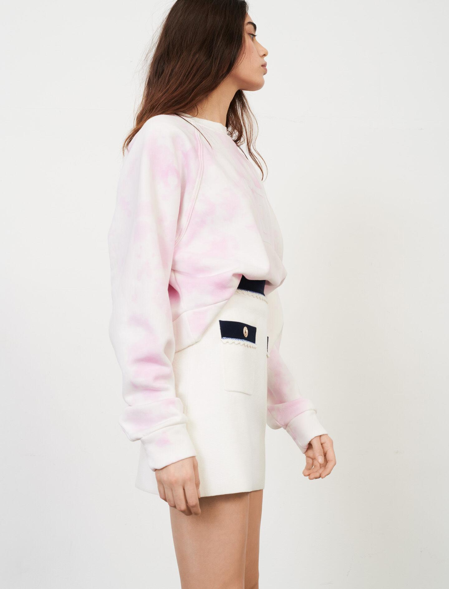 STRAIGHT-CUT CONTRASTING KNIT SKIRT 2
