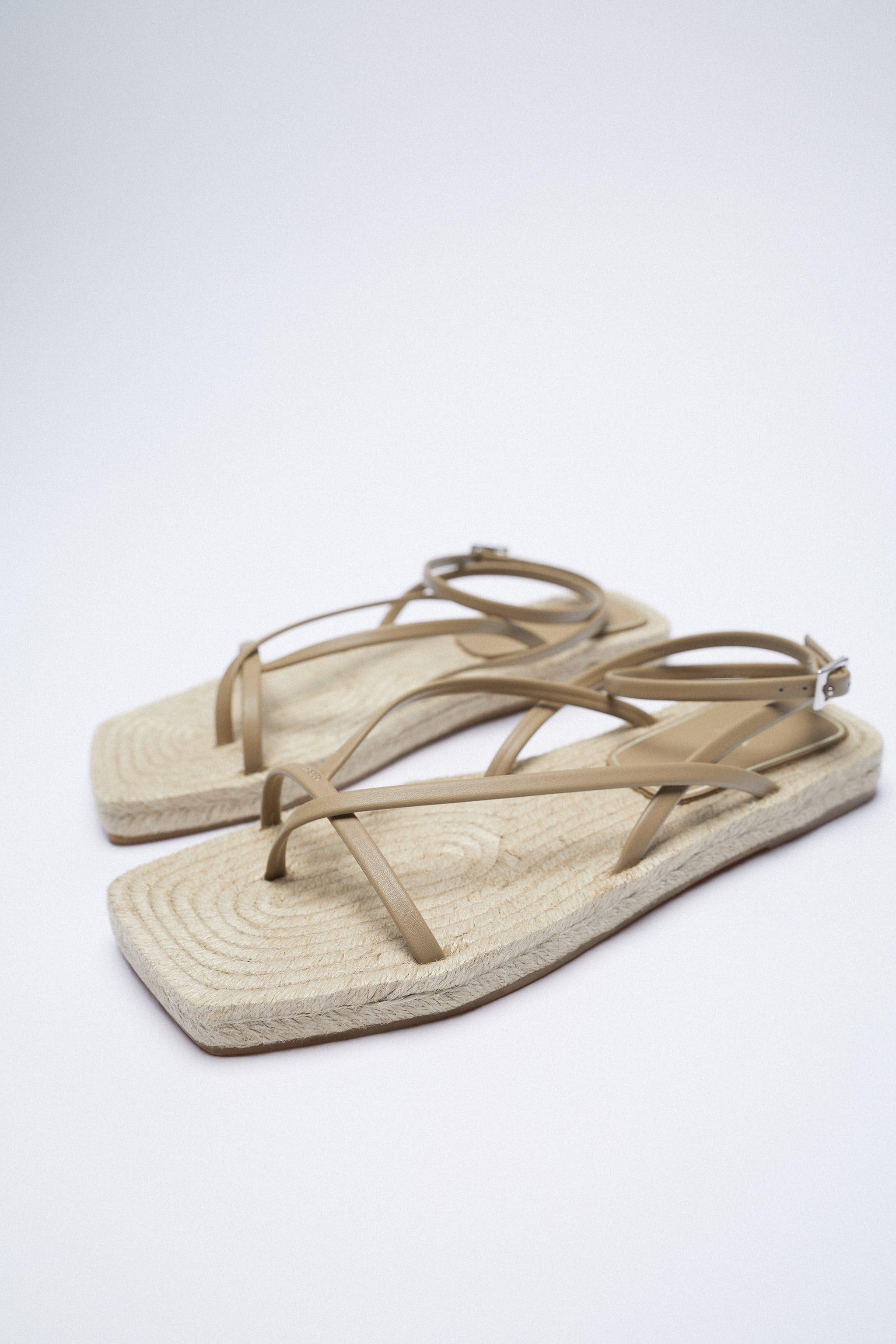 CHUNKY STRAPPY JUTE SANDALS 5