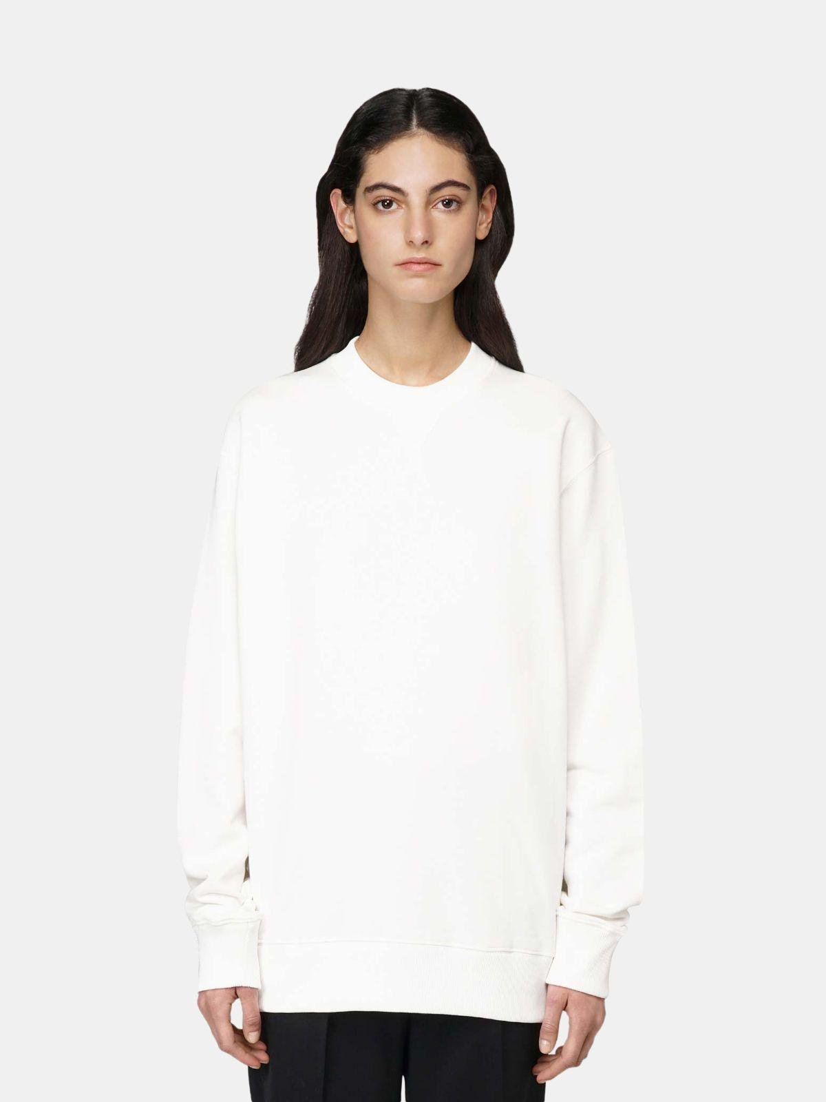 White Robbie sweatshirt with Love embroidery