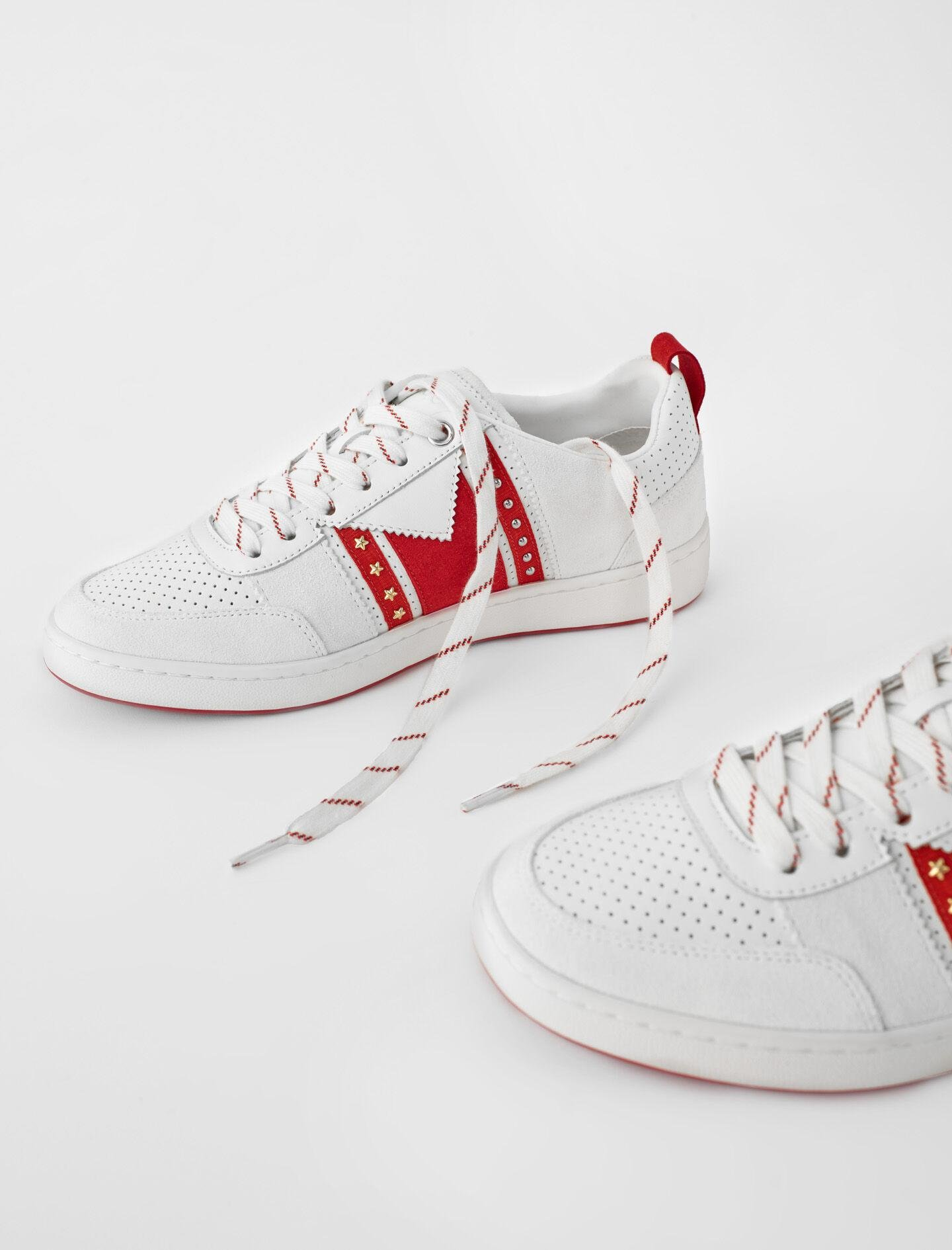 TWO-TONE LEATHER SNEAKERS 2