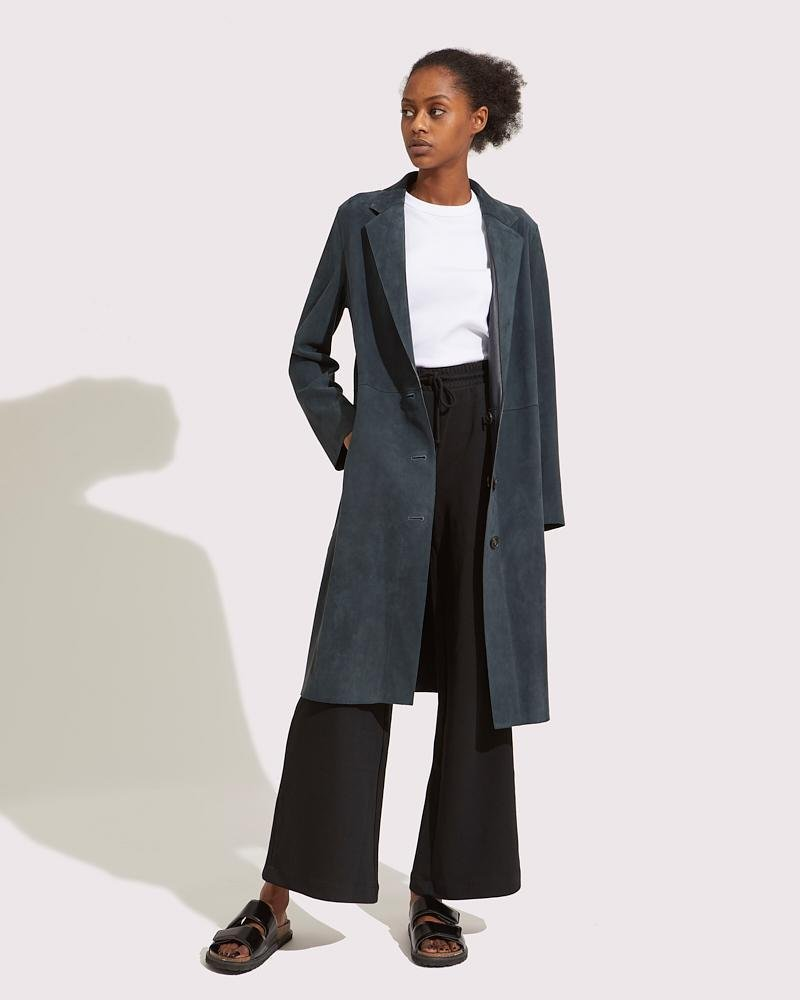 Long reversible fitted coat