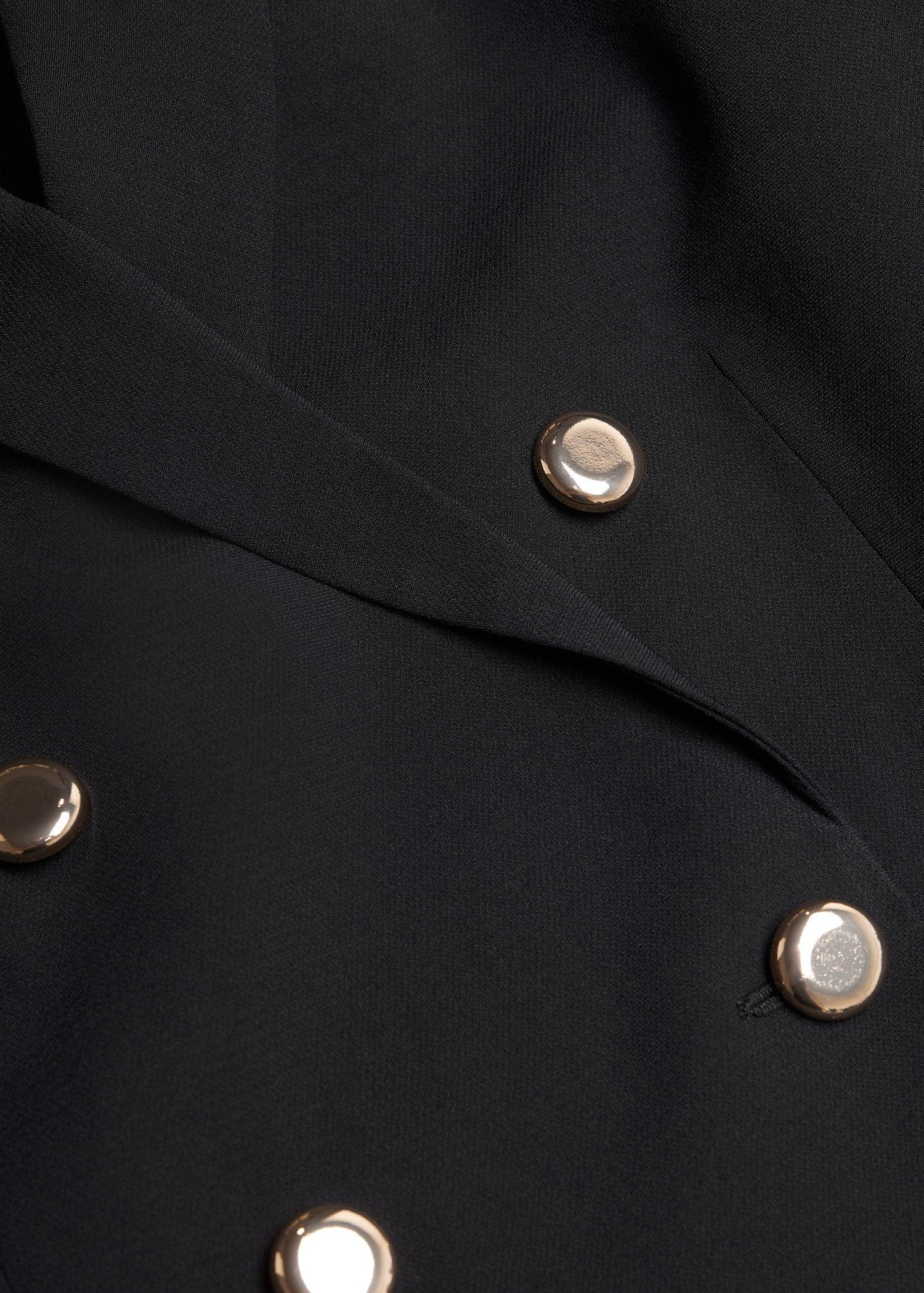 Cropped blazer with buttons 5