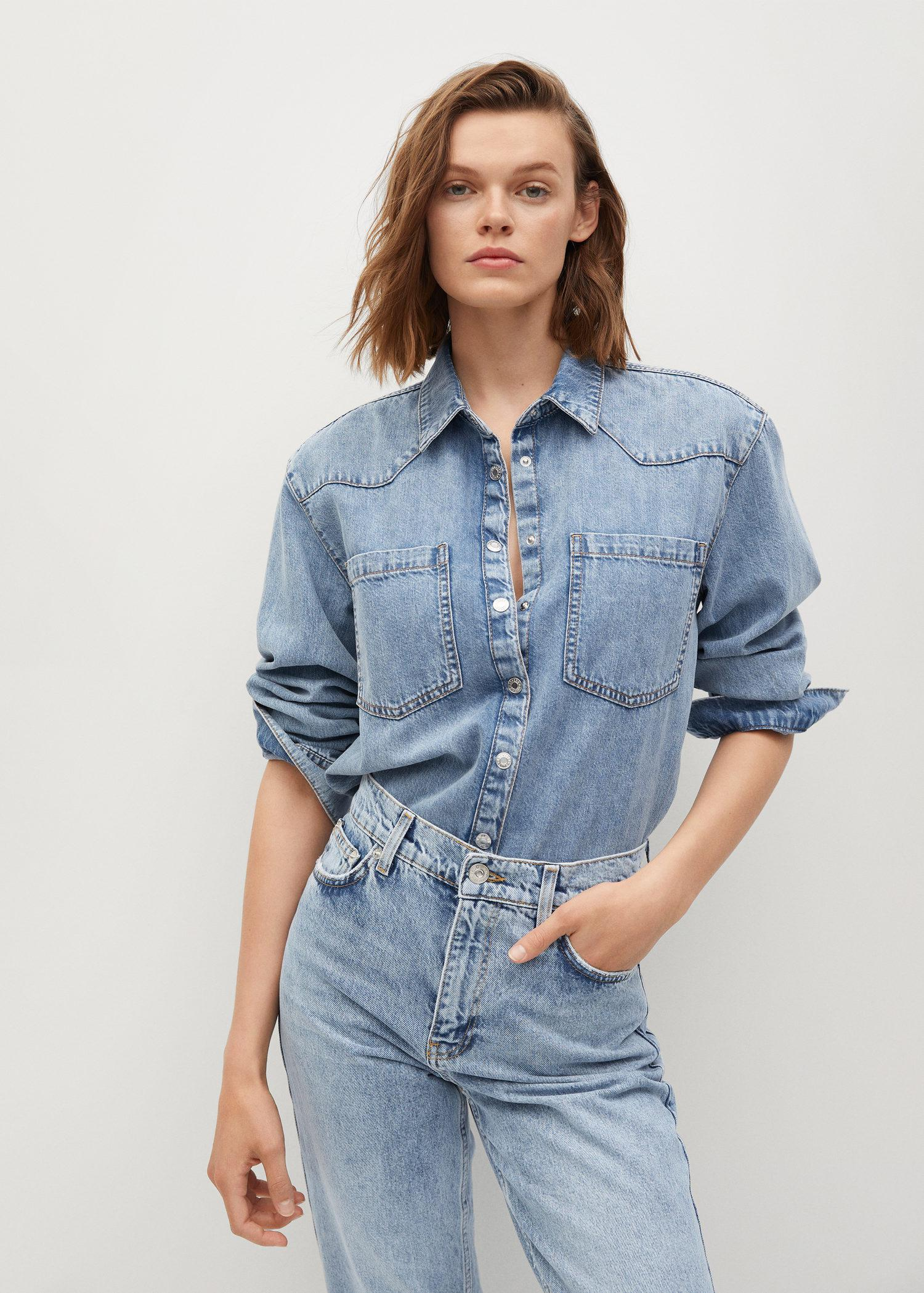 100% cotton mom-fit jeans 3