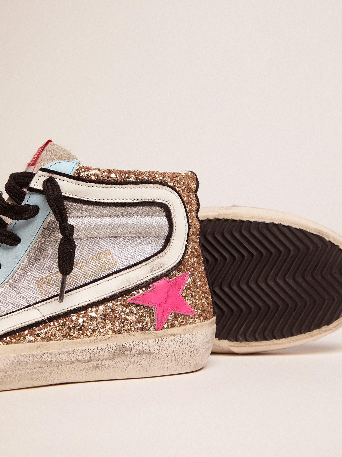 Slide LTD sneakers with glitter and fuchsia star 2