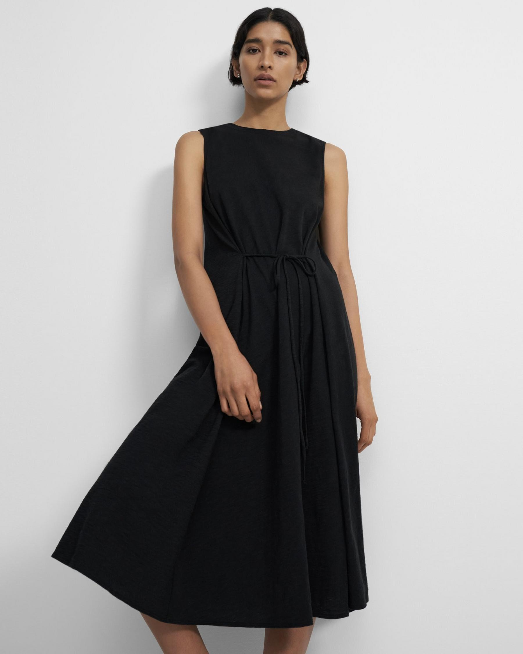 Cinched Tie Dress in Organic Cotton