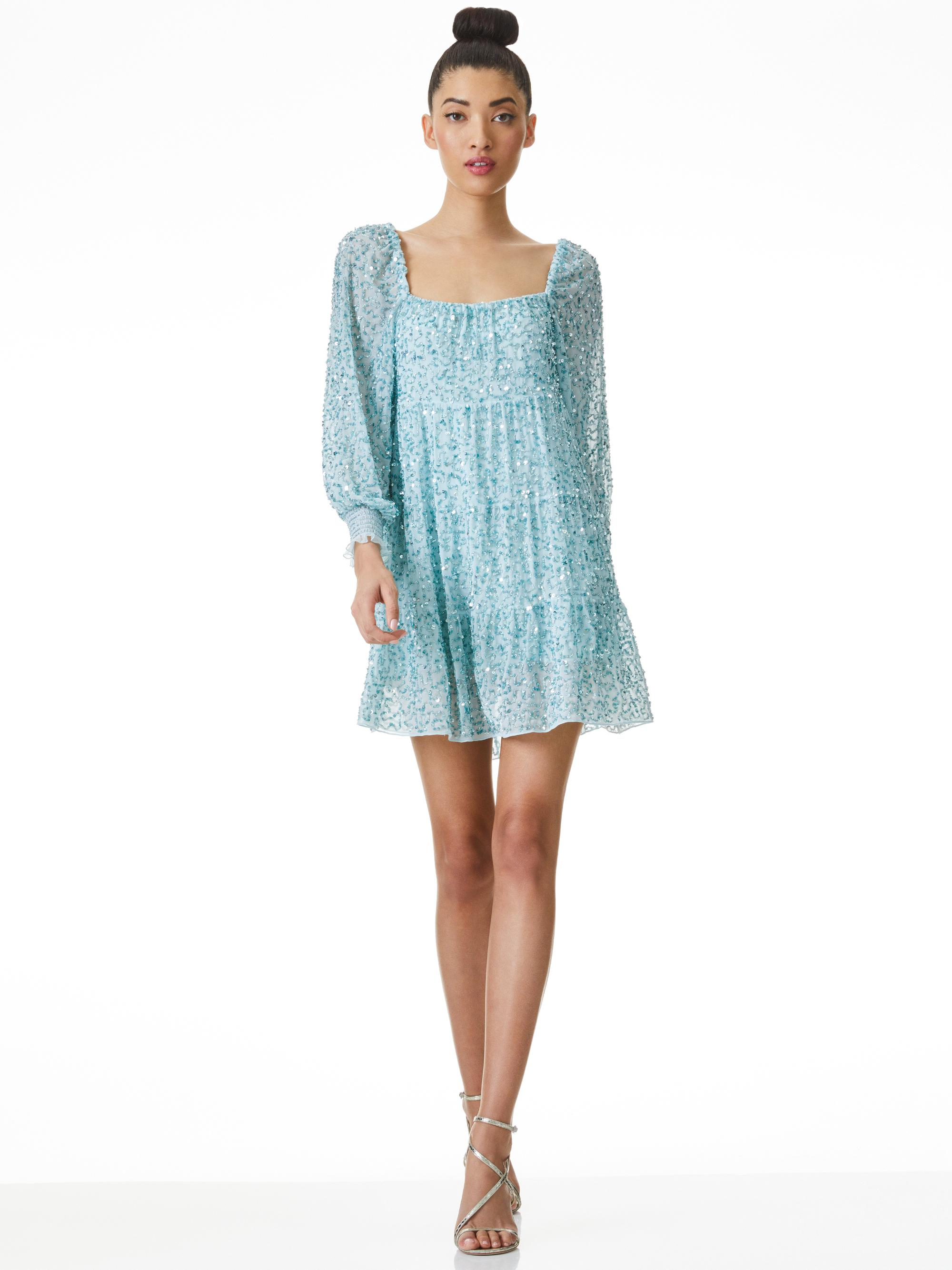 ROWEN SEQUIN EMBROIDERED MINI DRESS 4