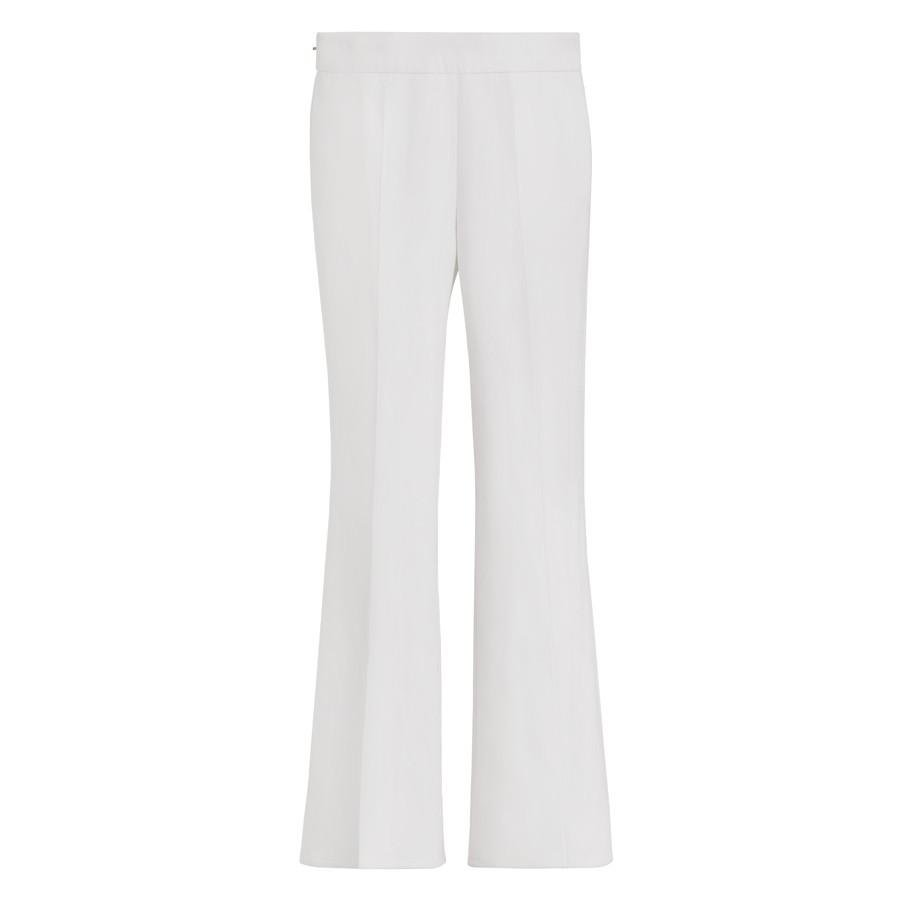 Women's Cotton Twill Flared Pant in Ecru | Size: