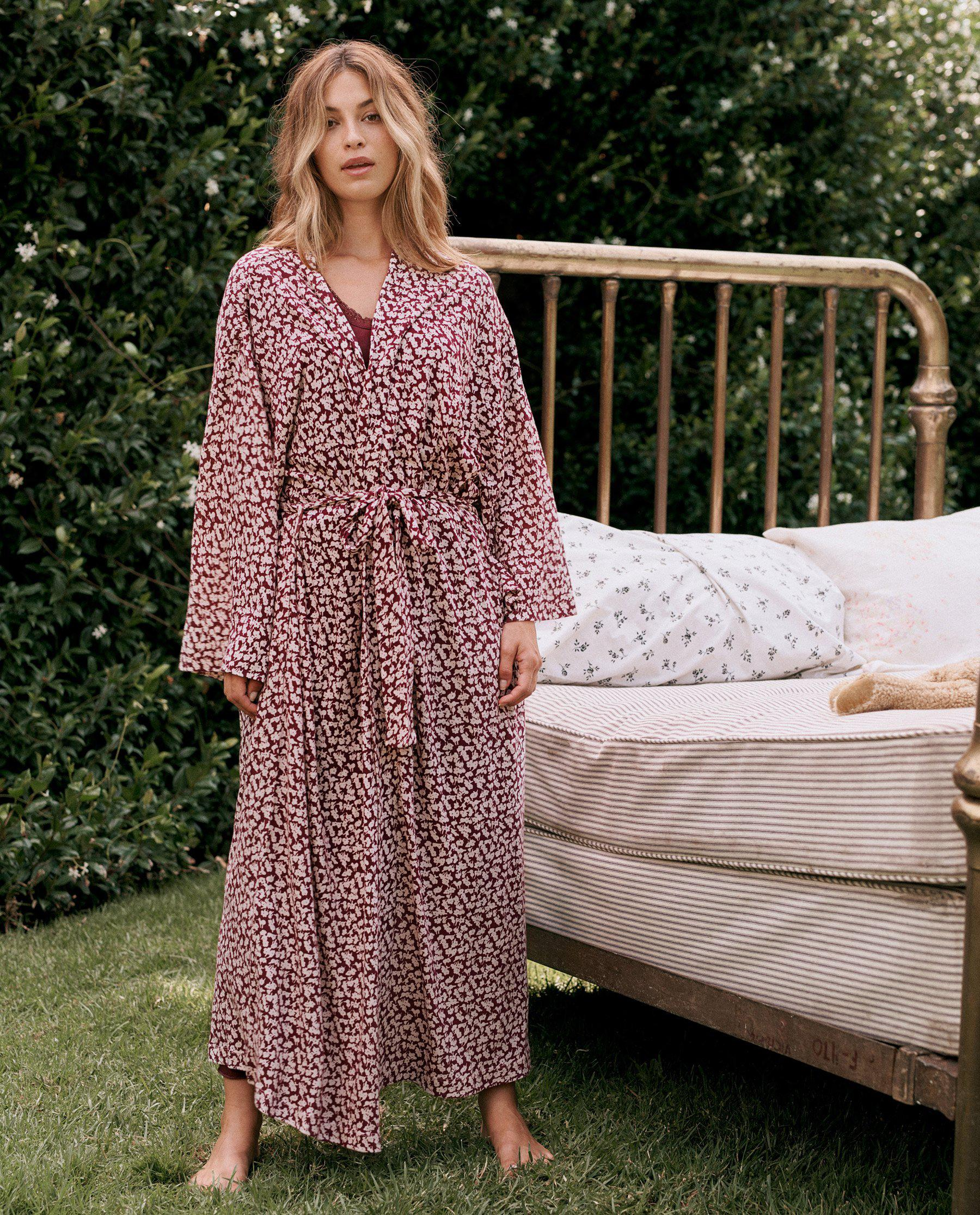 The Robe. -- Maroon Shadow Floral 3