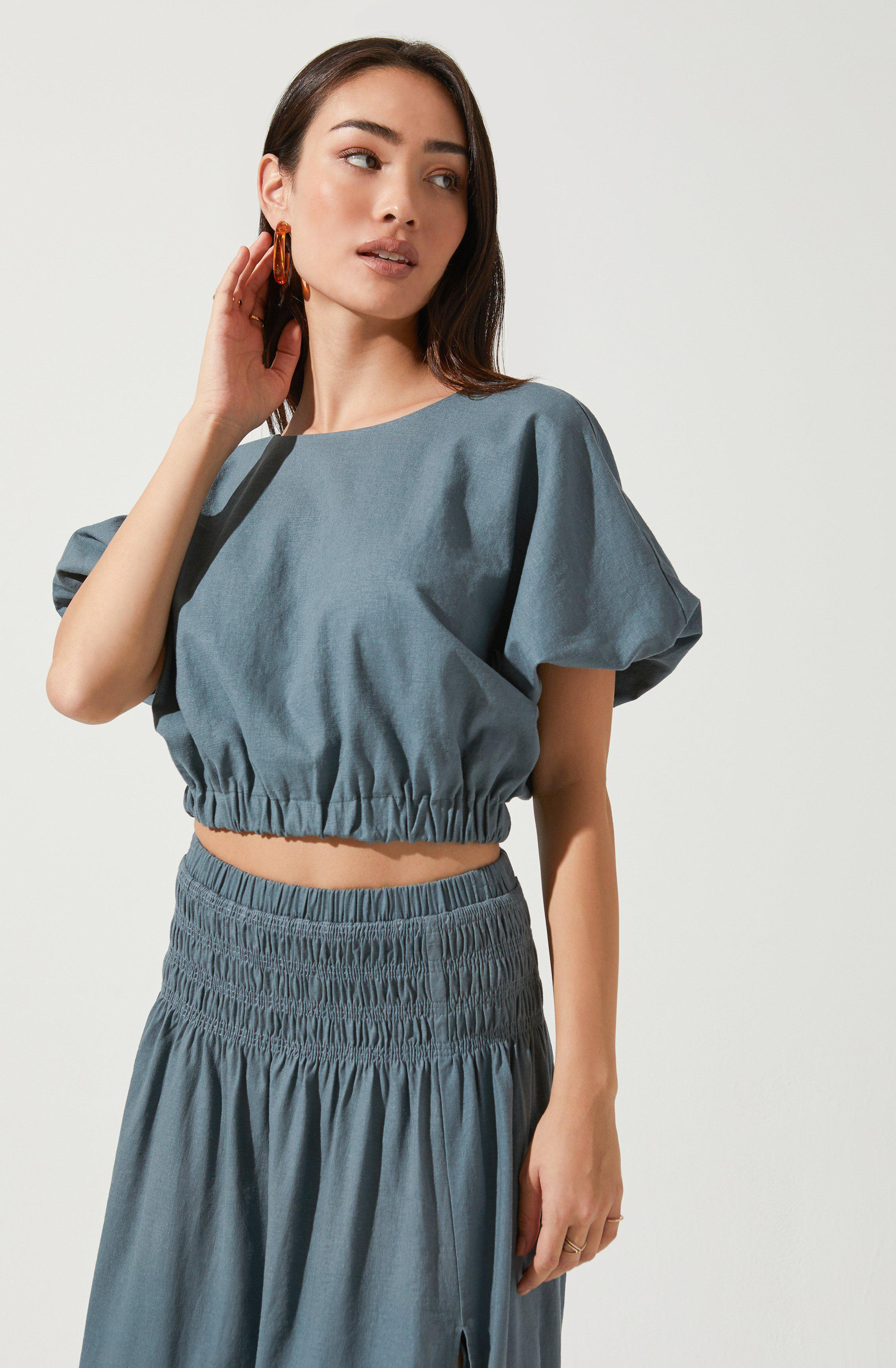 Perfect Oasis Bubble Sleeve Top