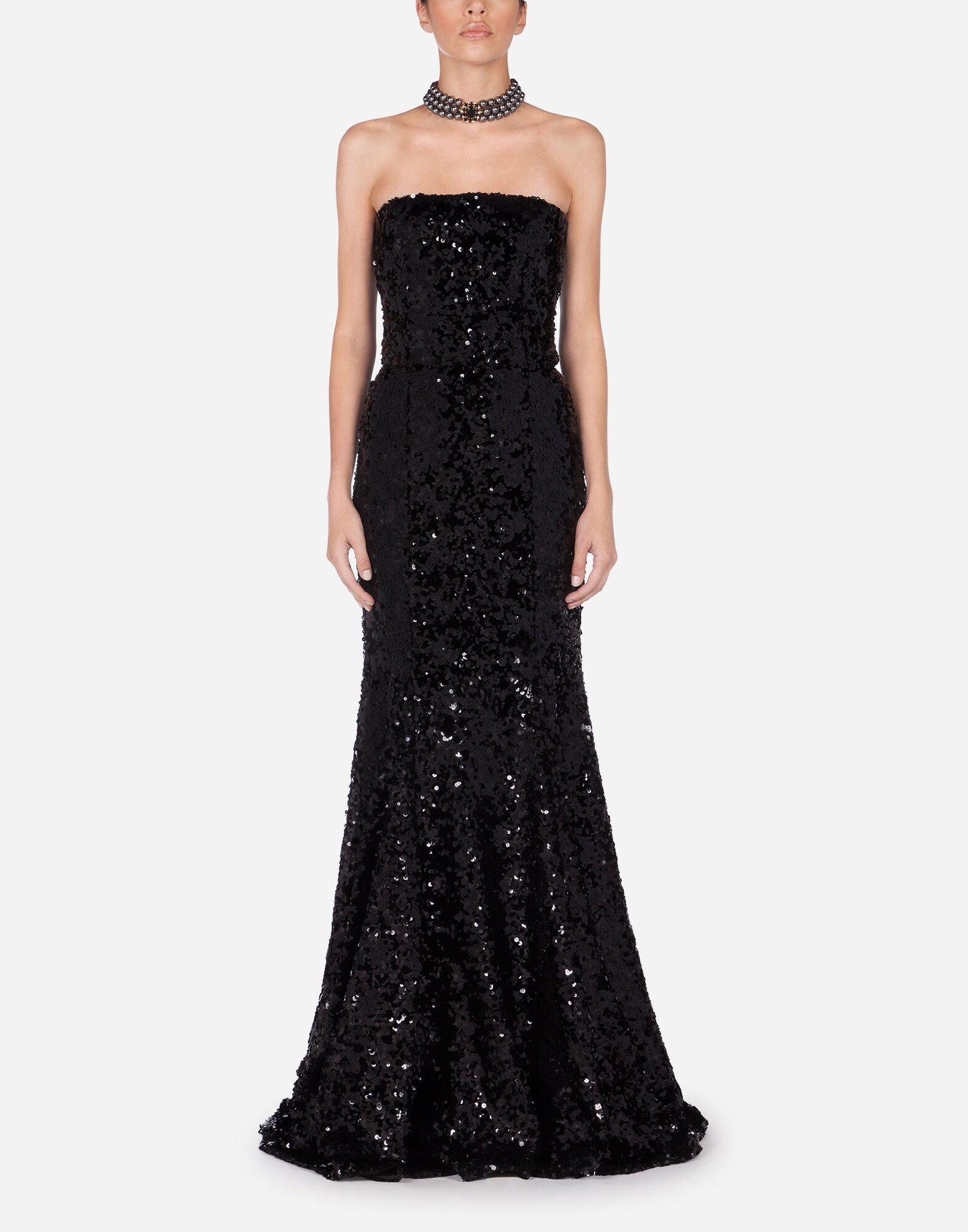 Long sequined dress