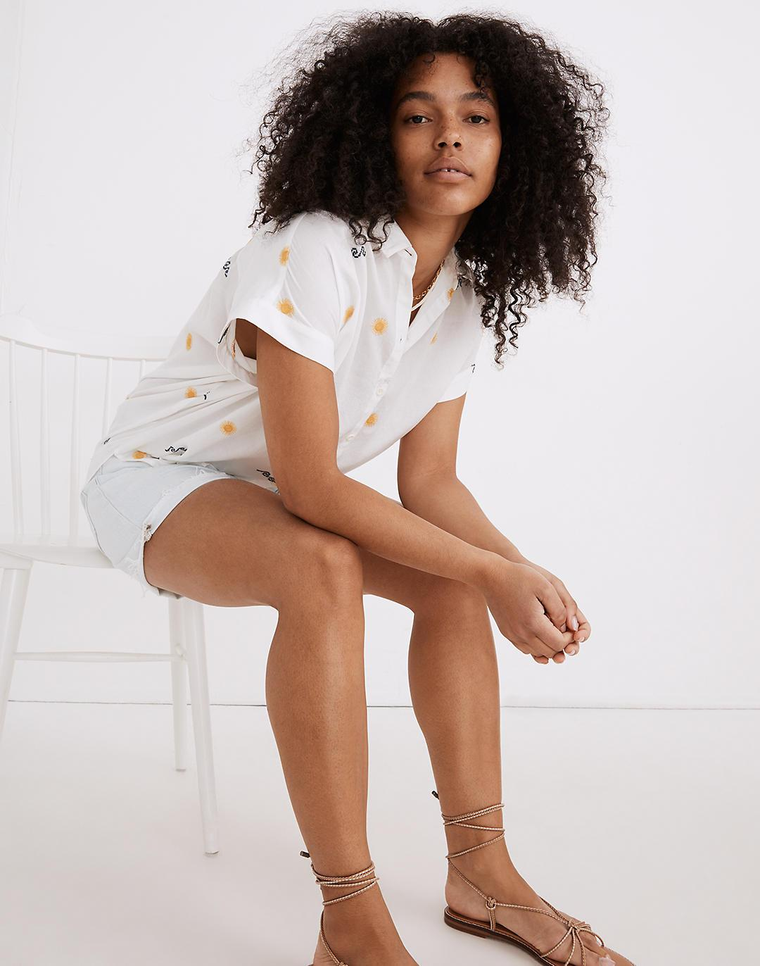 Sun Embroidered Central Shirt
