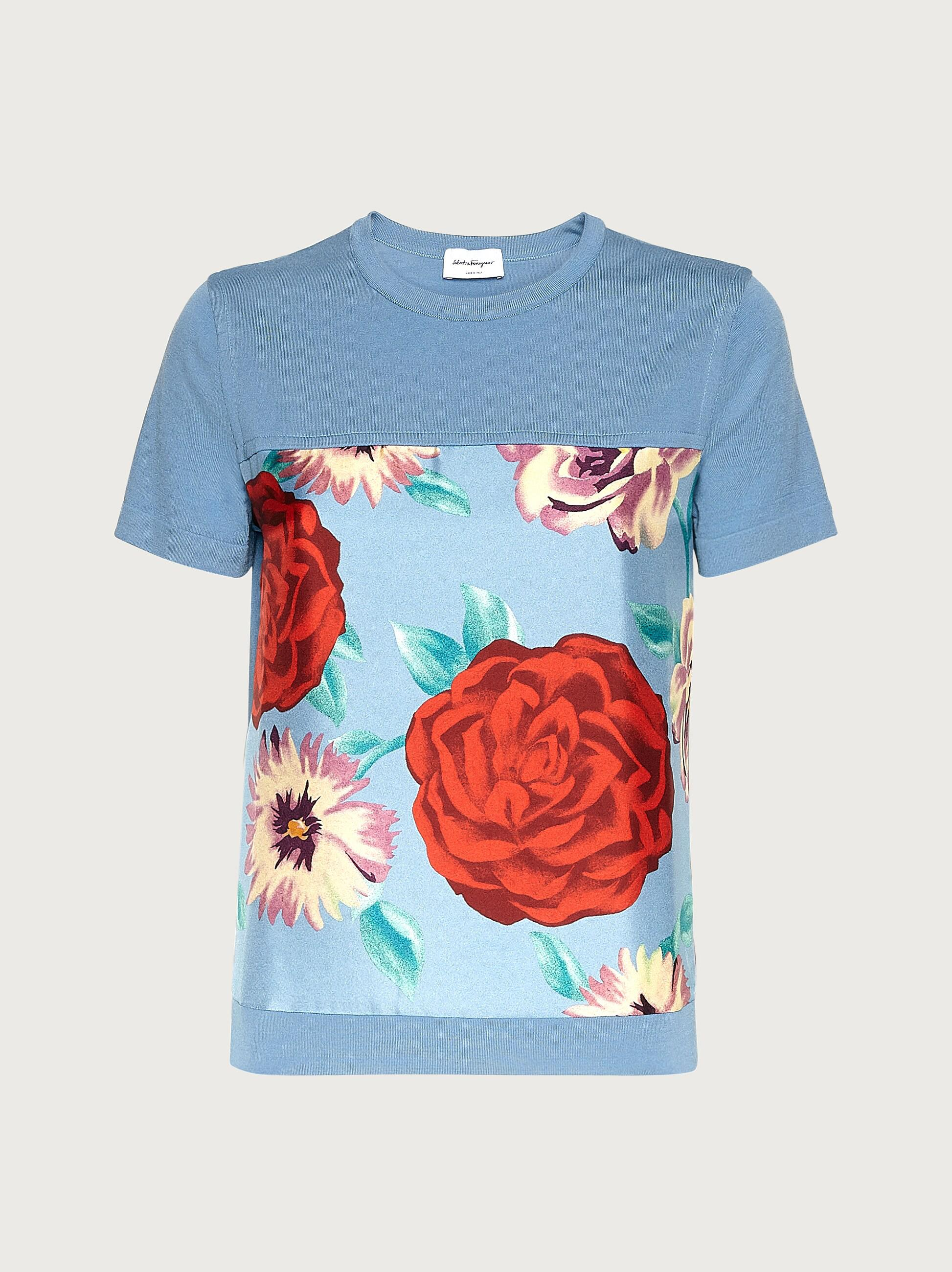 SHORT SLEEVED TOP WITH SILK INLAYS 3