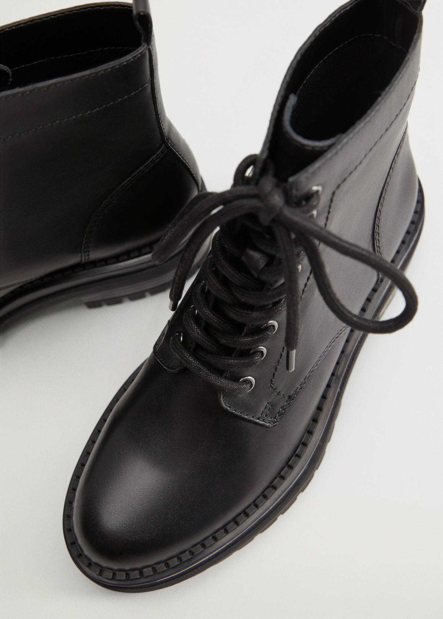 Lace-up leather boots 4