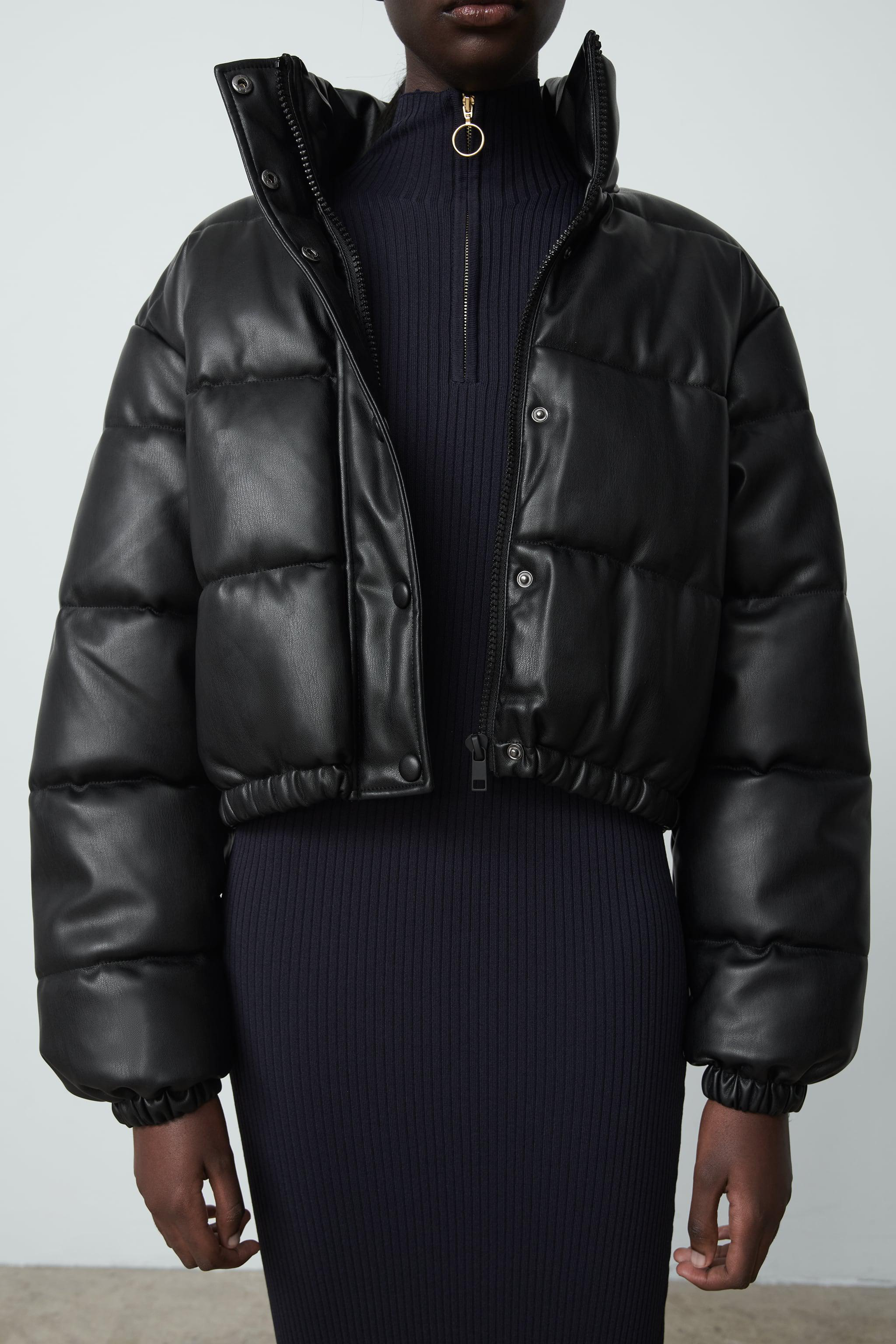 FAUX LEATHER PUFFER JACKET 1