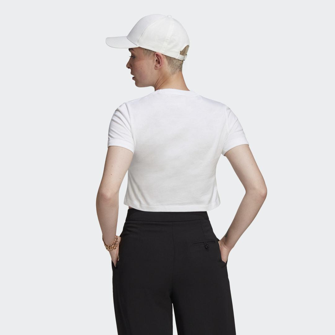 Adicolor Classics Roll-Up Sleeve Crop Top White 1