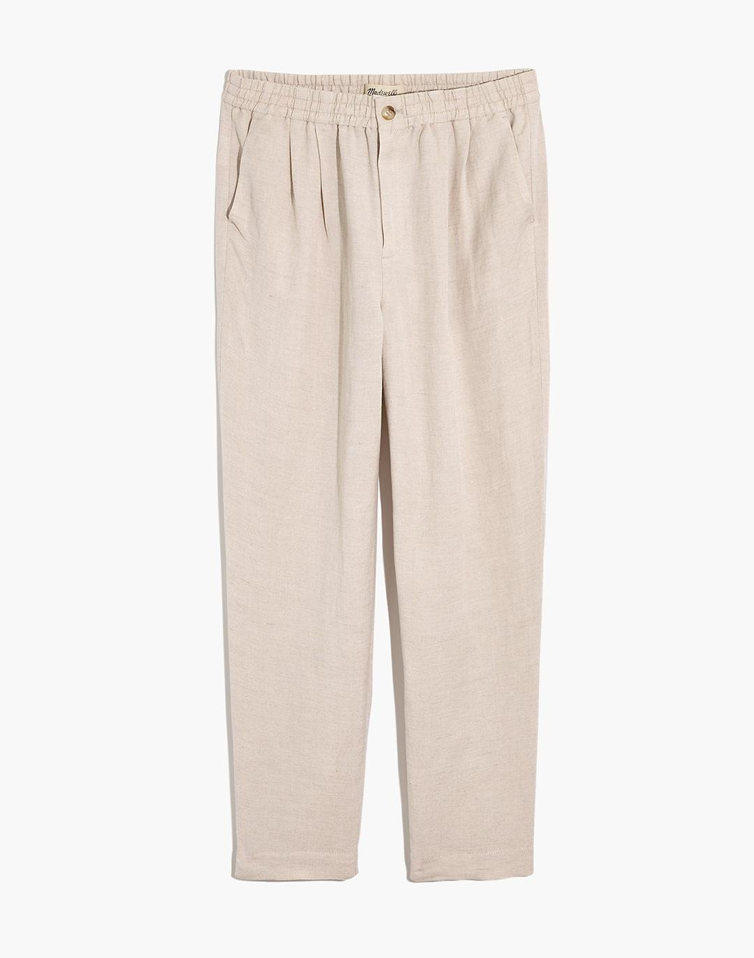 Linen-Blend Track Trousers 4