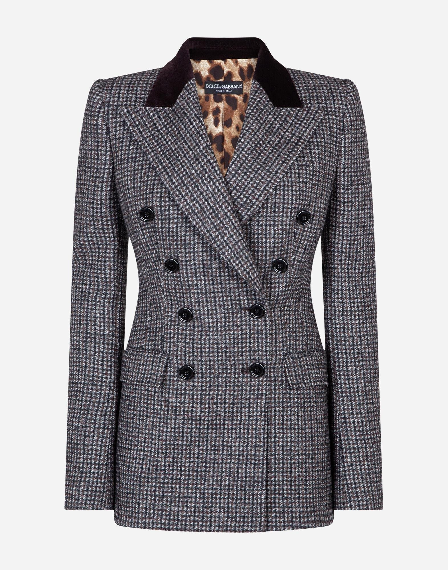 Double-breasted tweed blazer 4