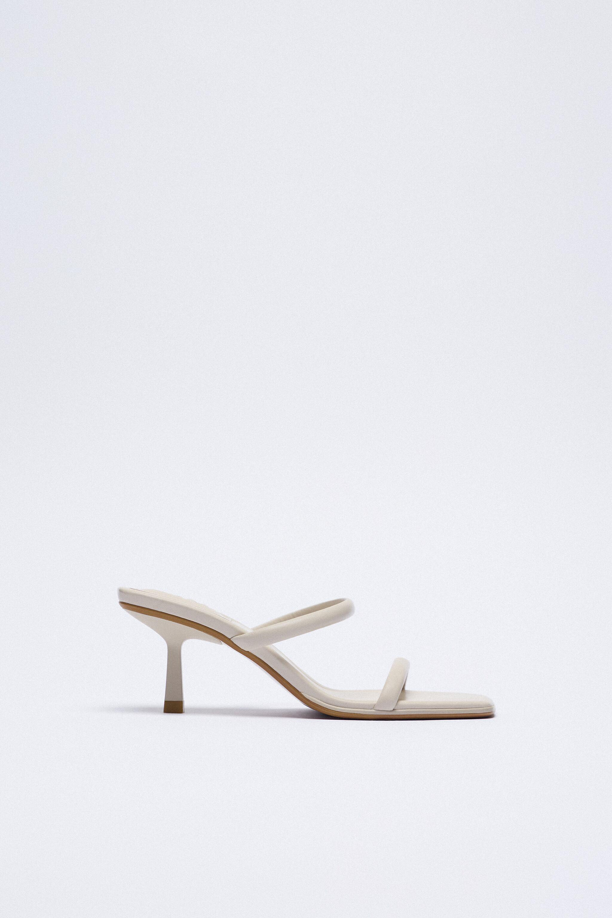 STRAPPY HEELED LEATHER SANDALS 4
