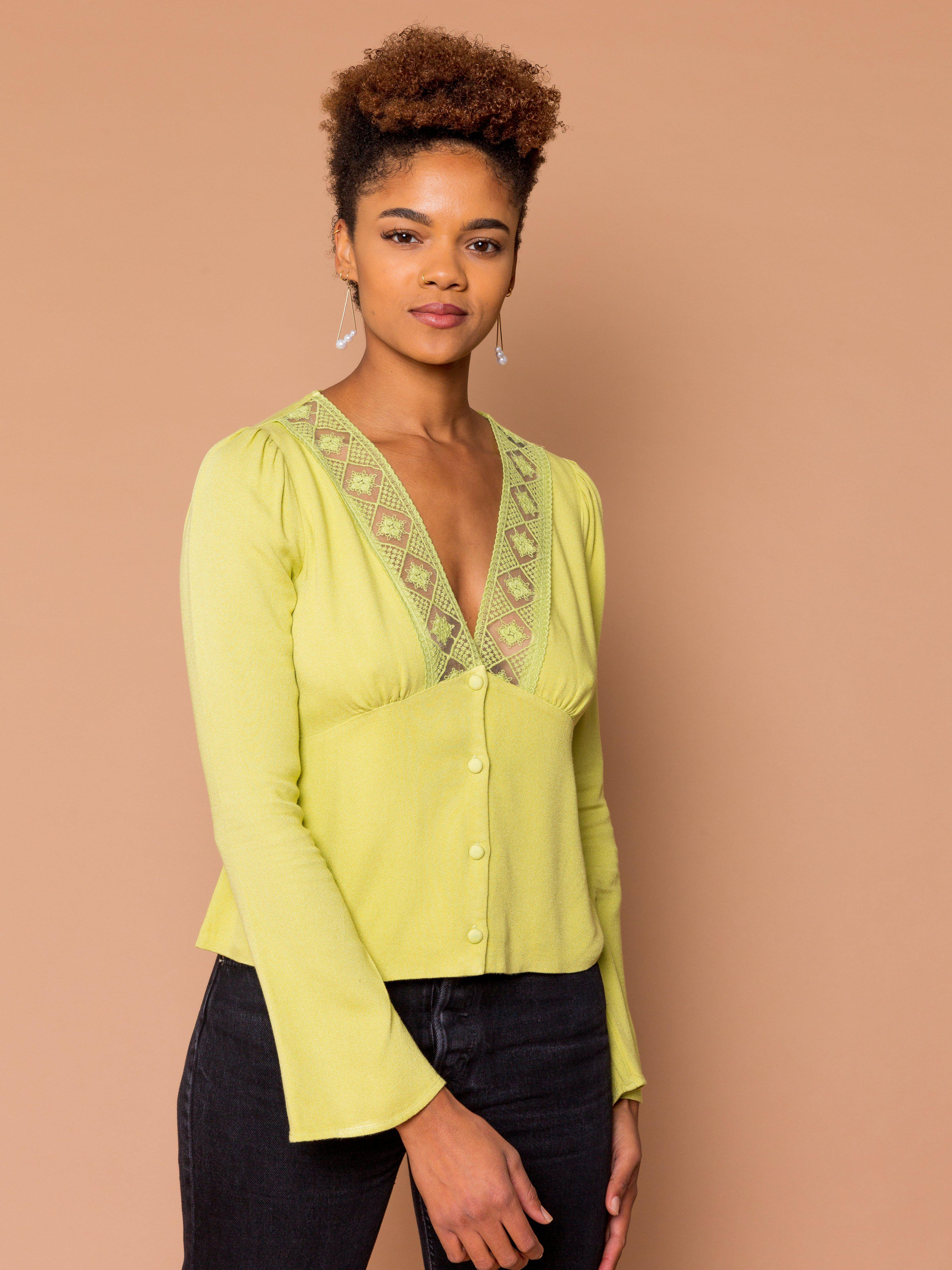 THE LOVERS LACE TOP ~ Pear (FINAL SALE)