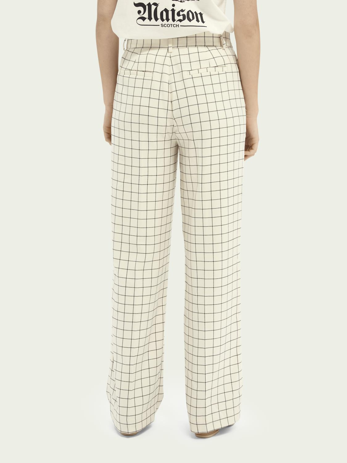 Edie high-rise wide-leg checked trousers 2