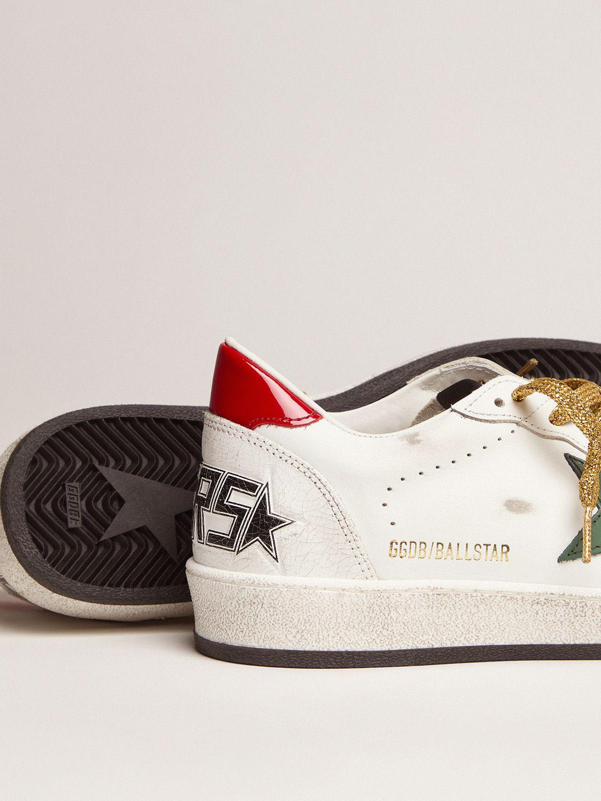 Ball Star sneakers with green star and red heel tab 2