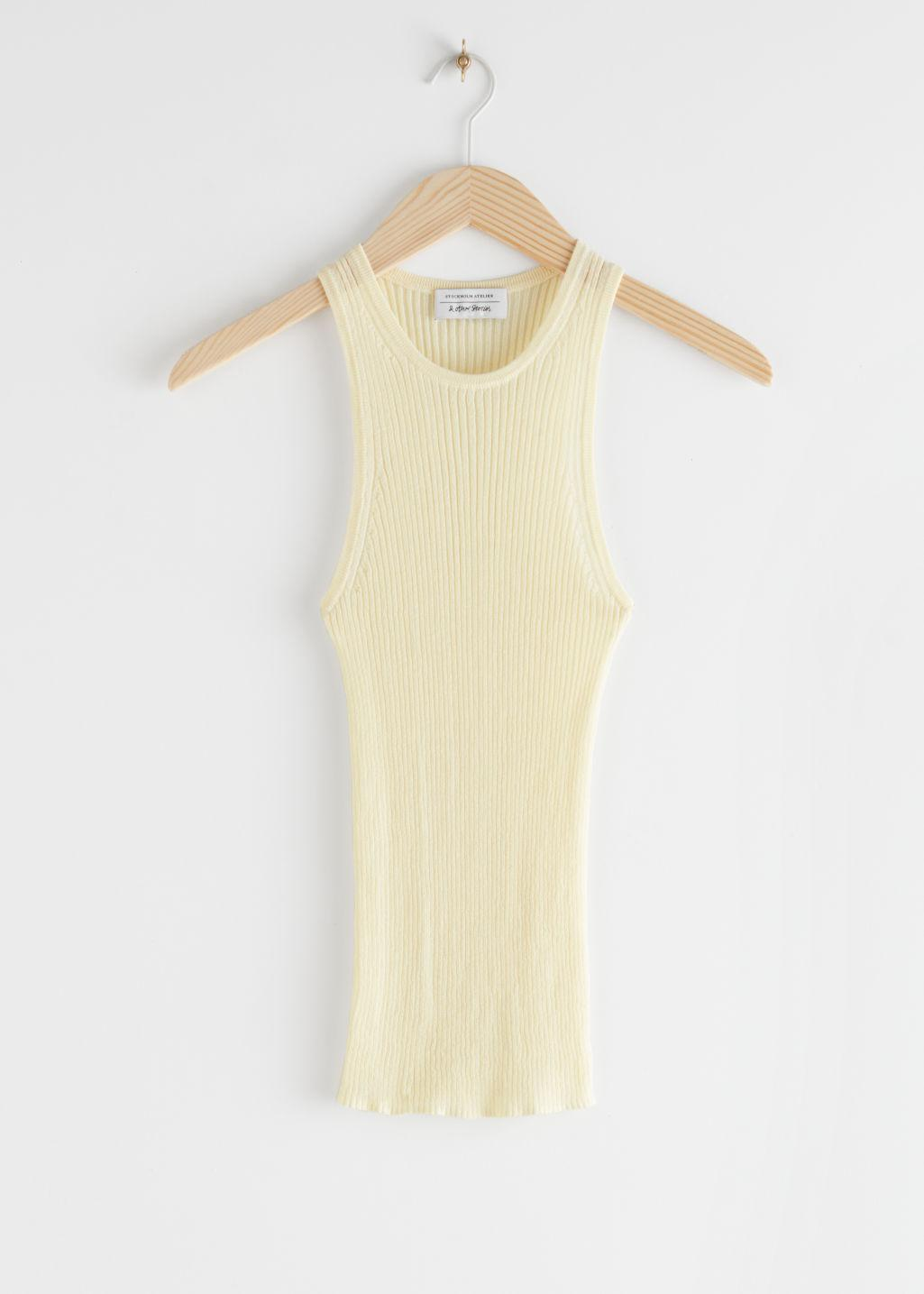 Fitted Ribbed Tank Top