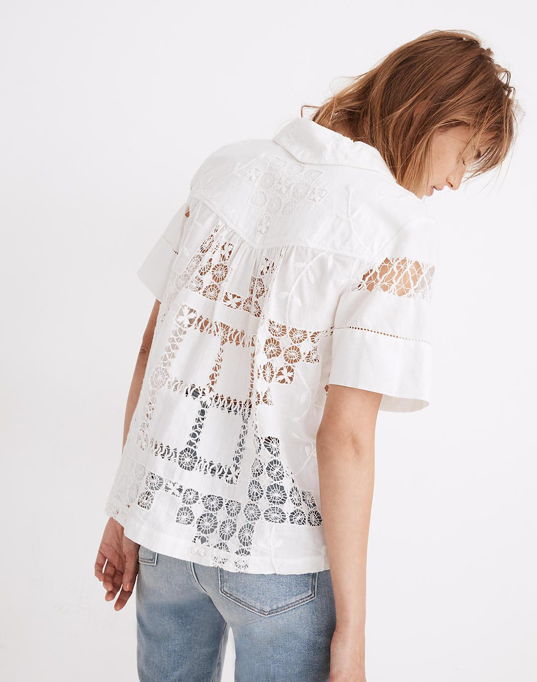 Carleen Lace Dinner Party Button-Up Shirt 2