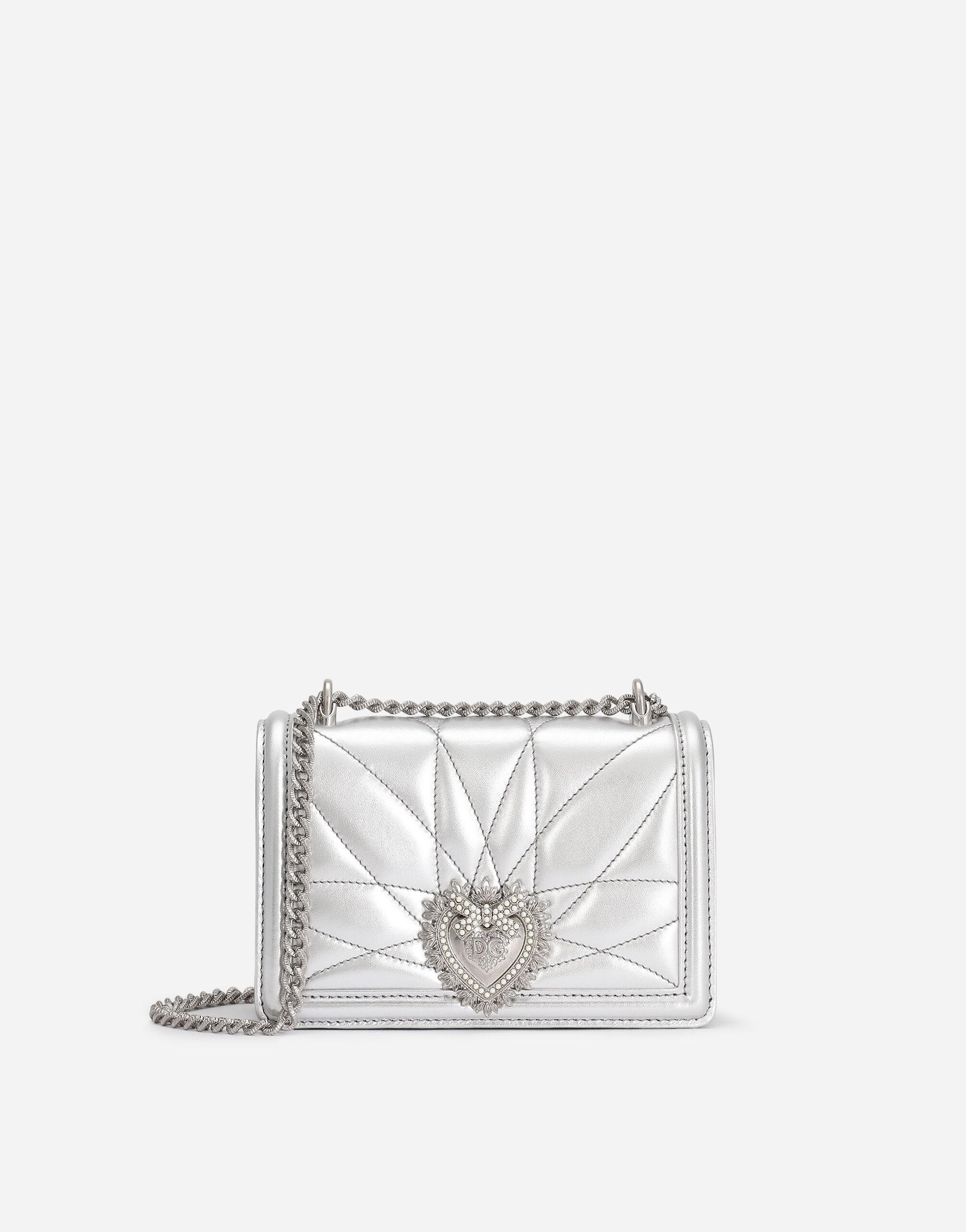 Small Devotion crossbody bag in quilted nappa mordore leather 0