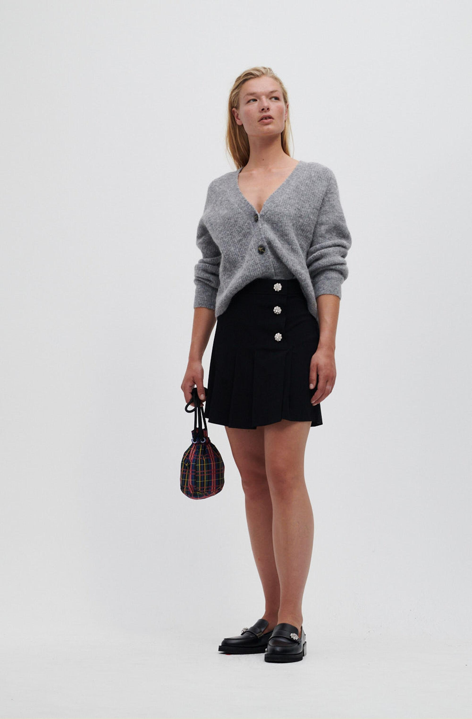 Recycled Suit Mini Skirt
