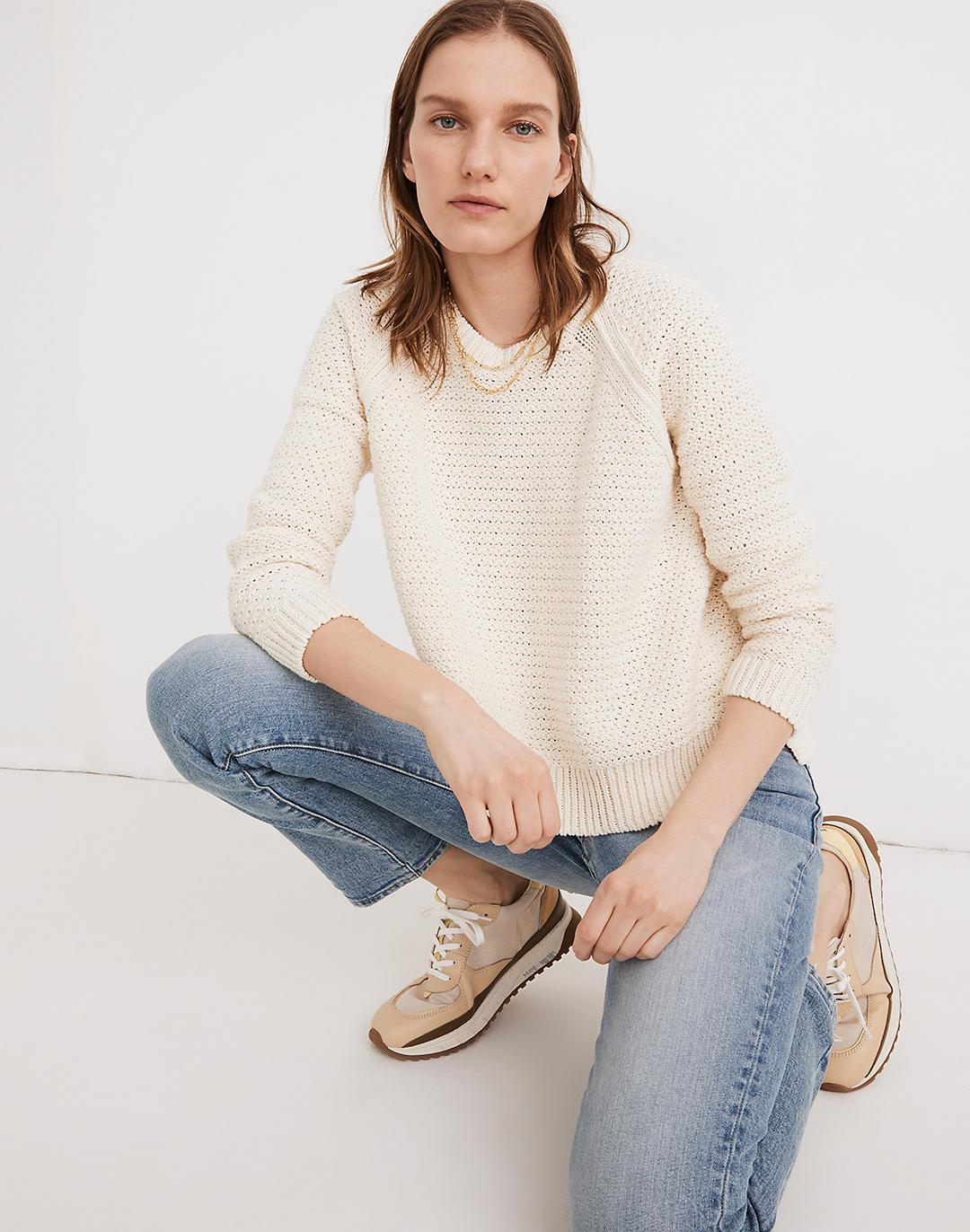 Open-Stitch Hopedale Pullover Sweater