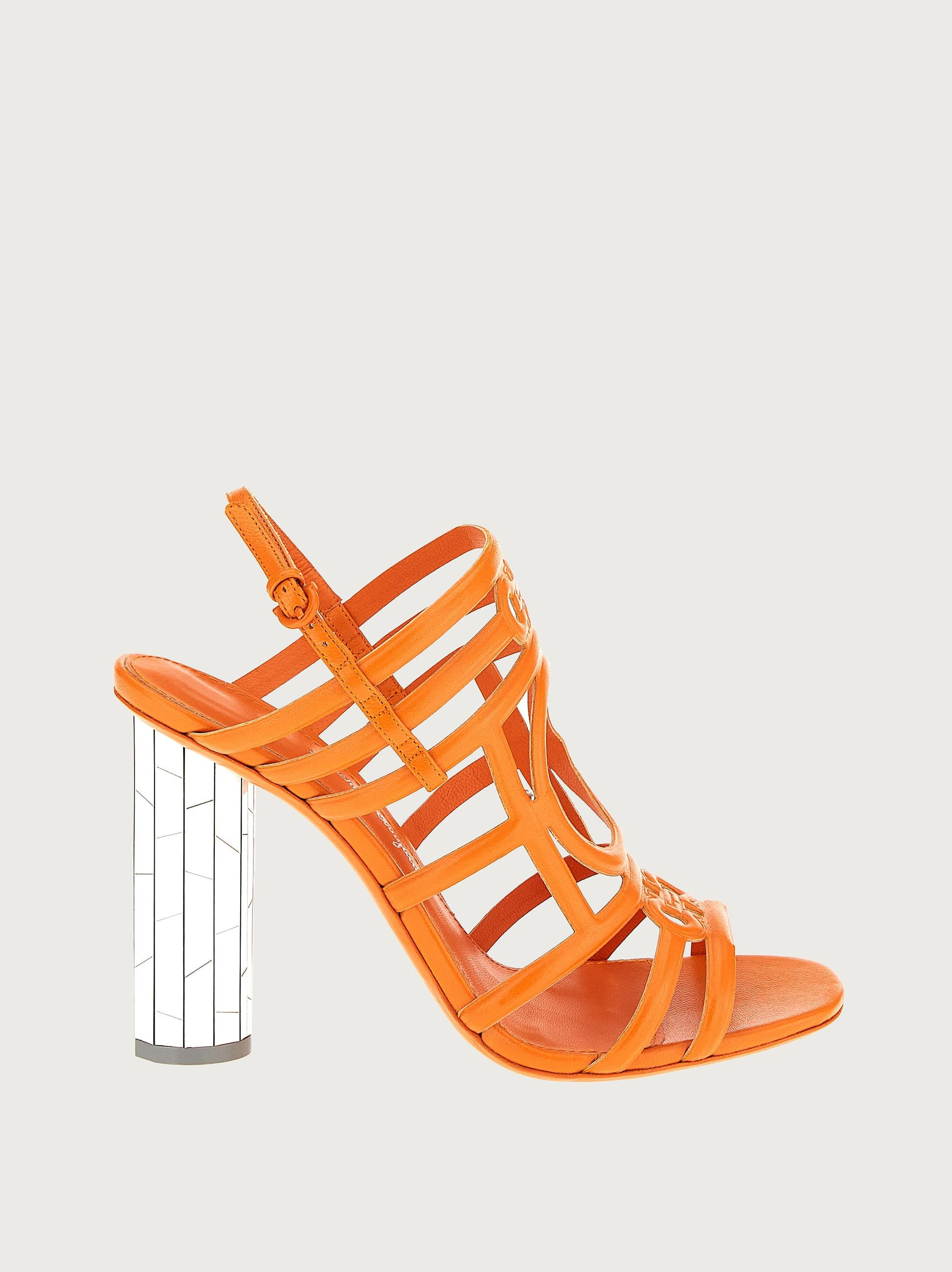 MIRRORED HEEL STRAPPY SANDAL