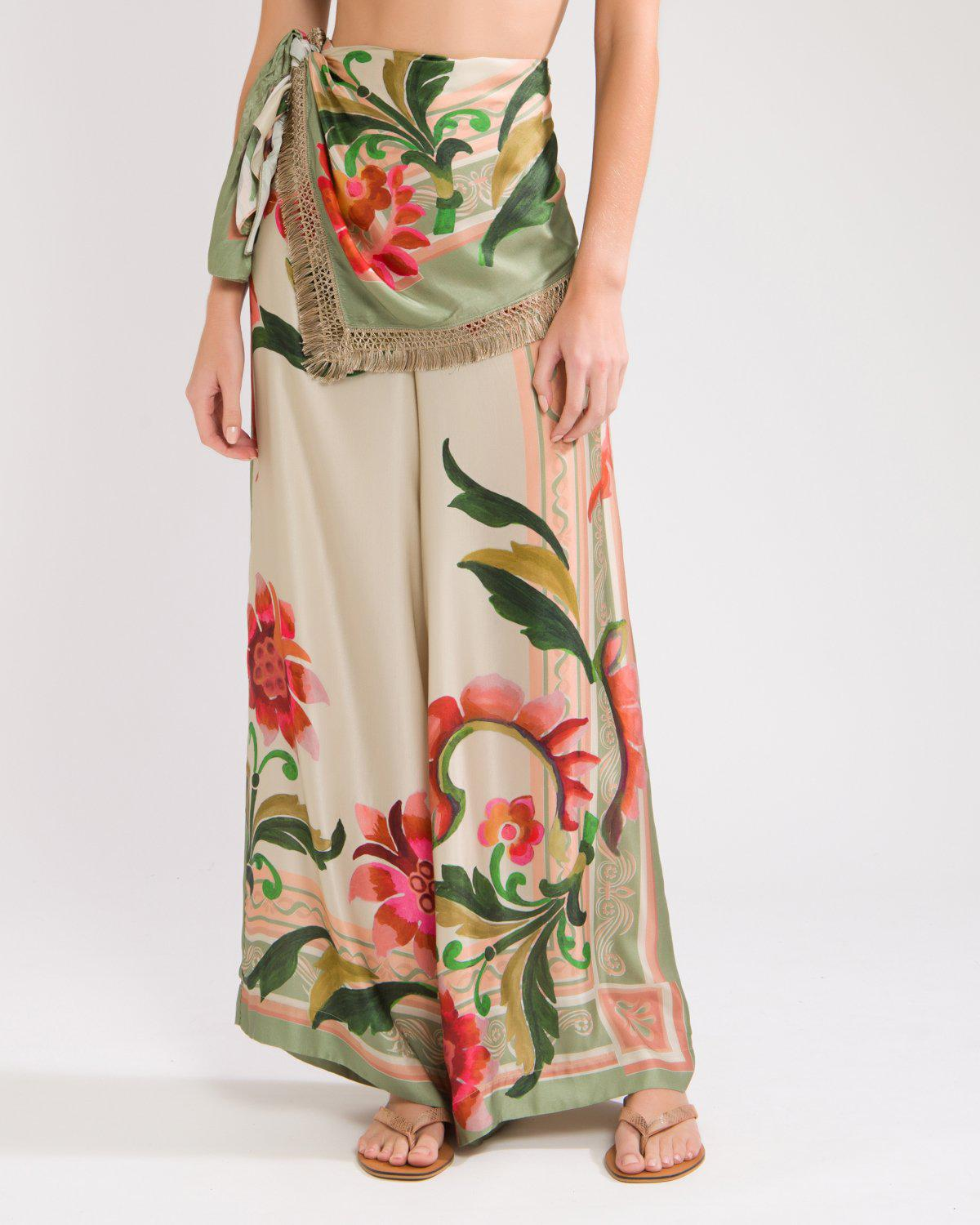 DRAPE-FRONT CROPPED PANT 2