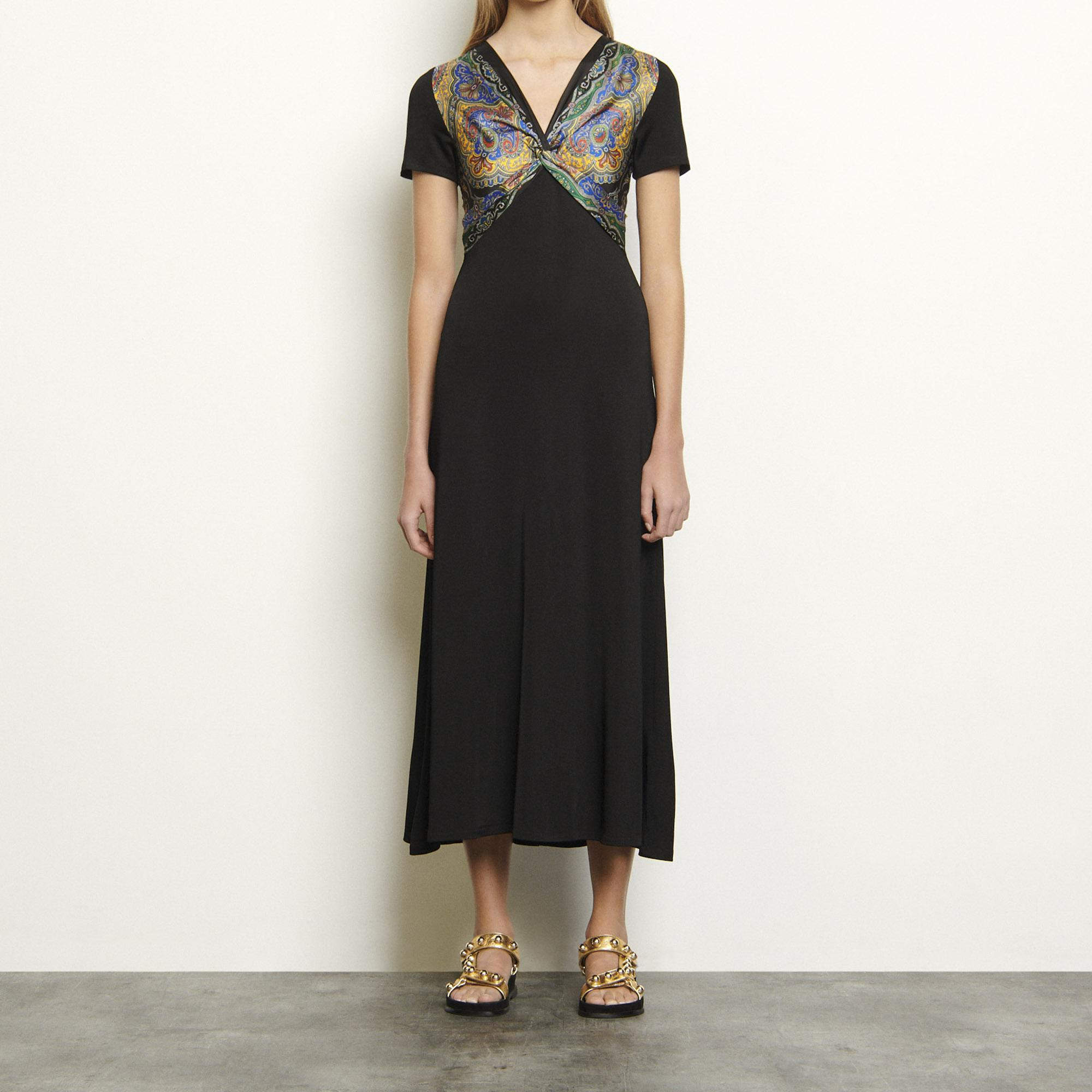 Jersey dress with insert