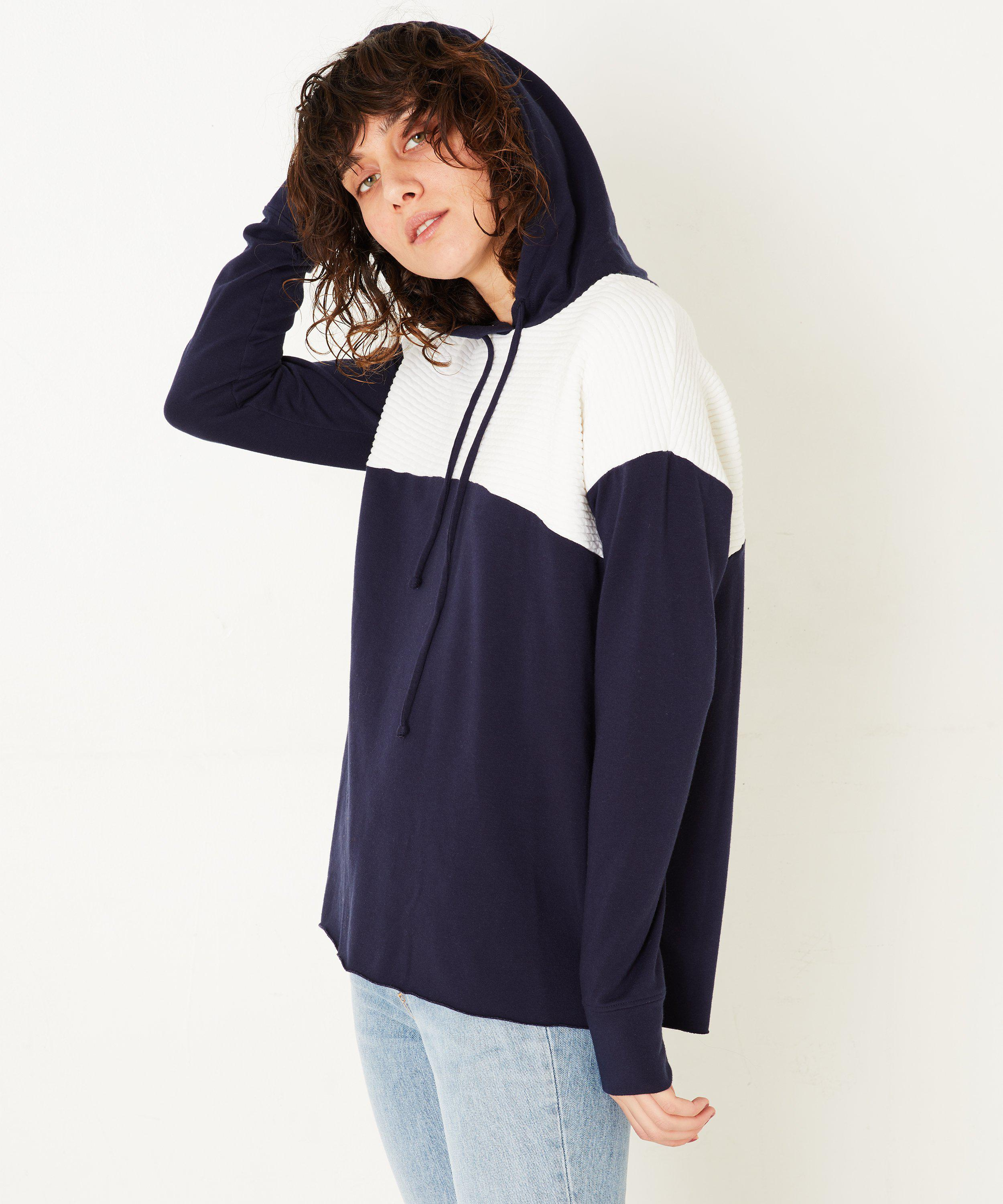 COLOR BLOCK PULLOVER- Navy/white 1