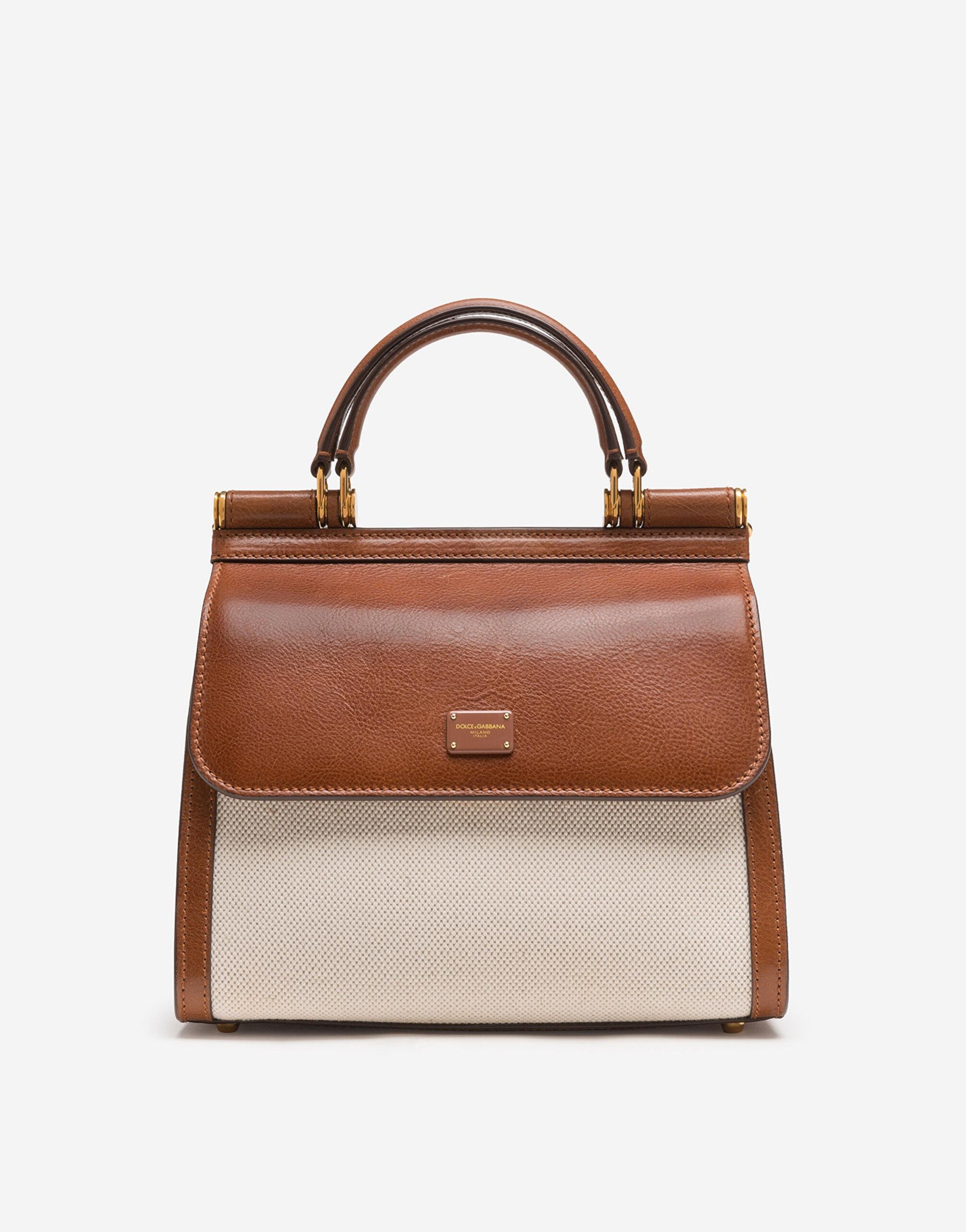 Medium Sicily 58 bag in canvas and cowhide