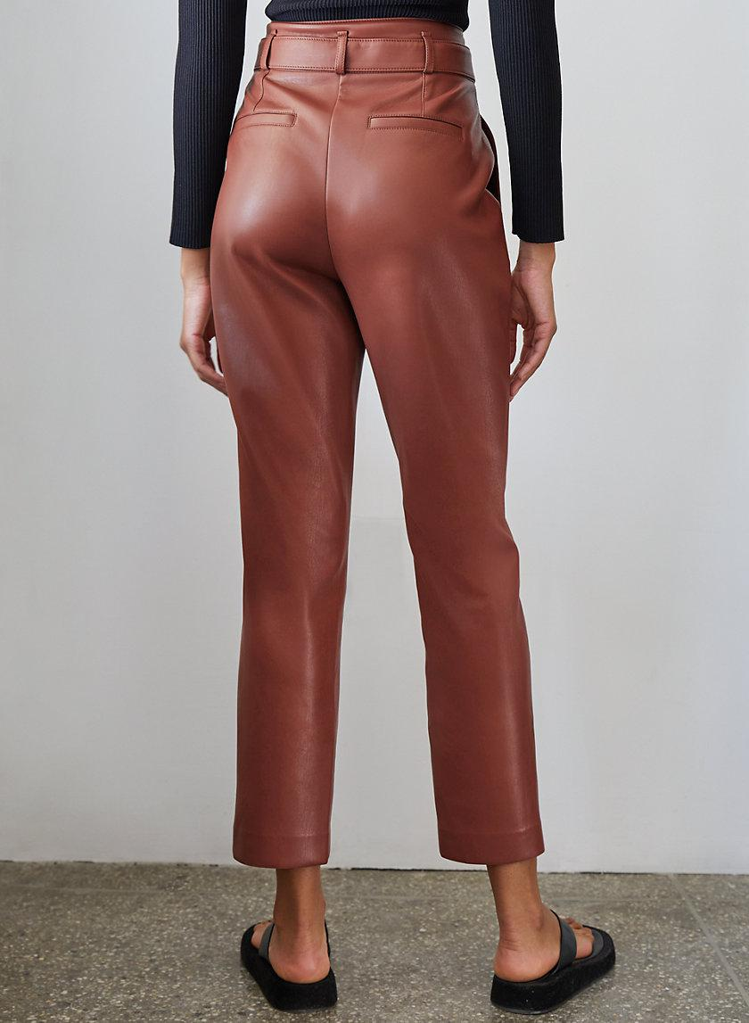 Vegan Leather Belted Pant 3