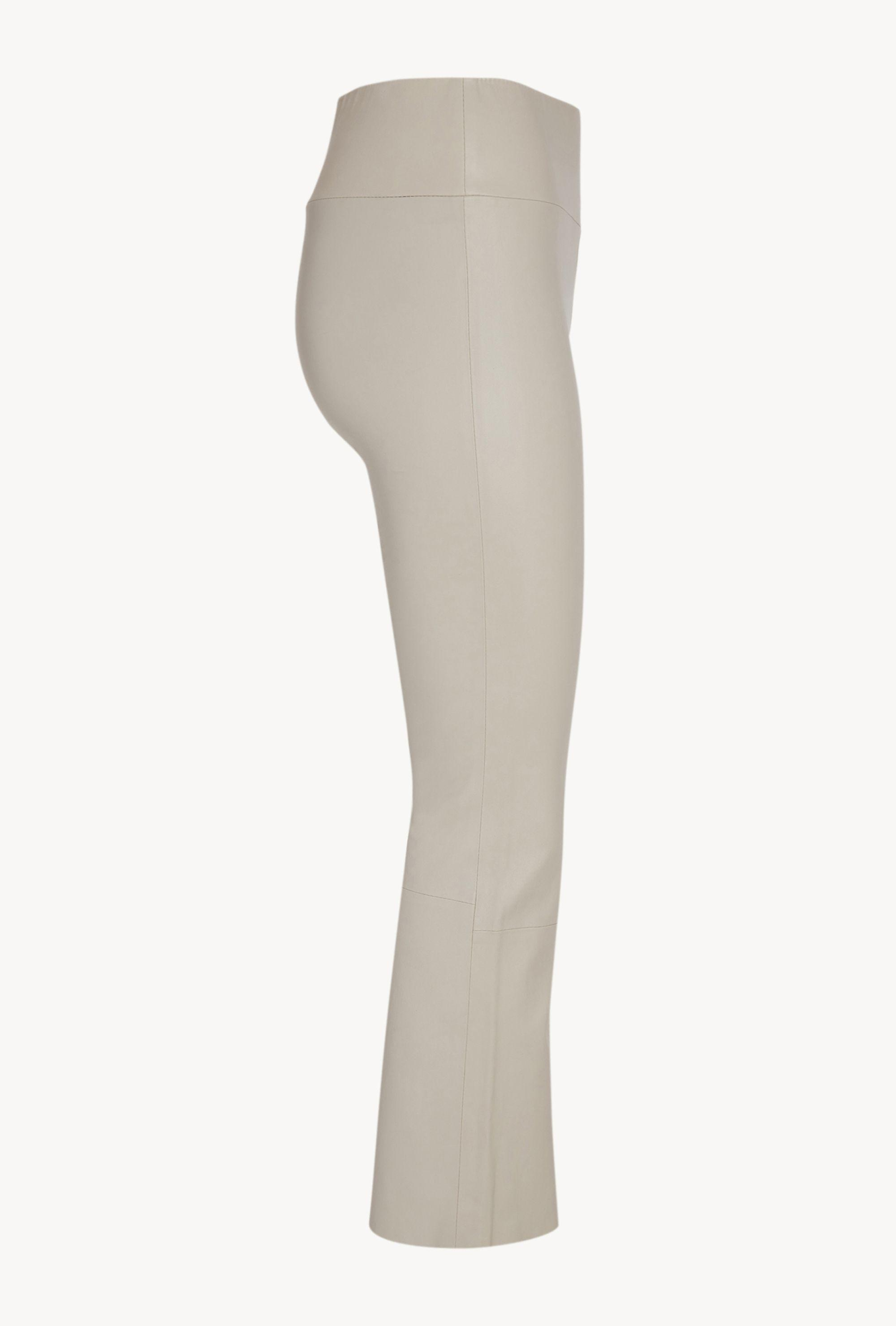 Off White Leather Crop Flare Legging 4