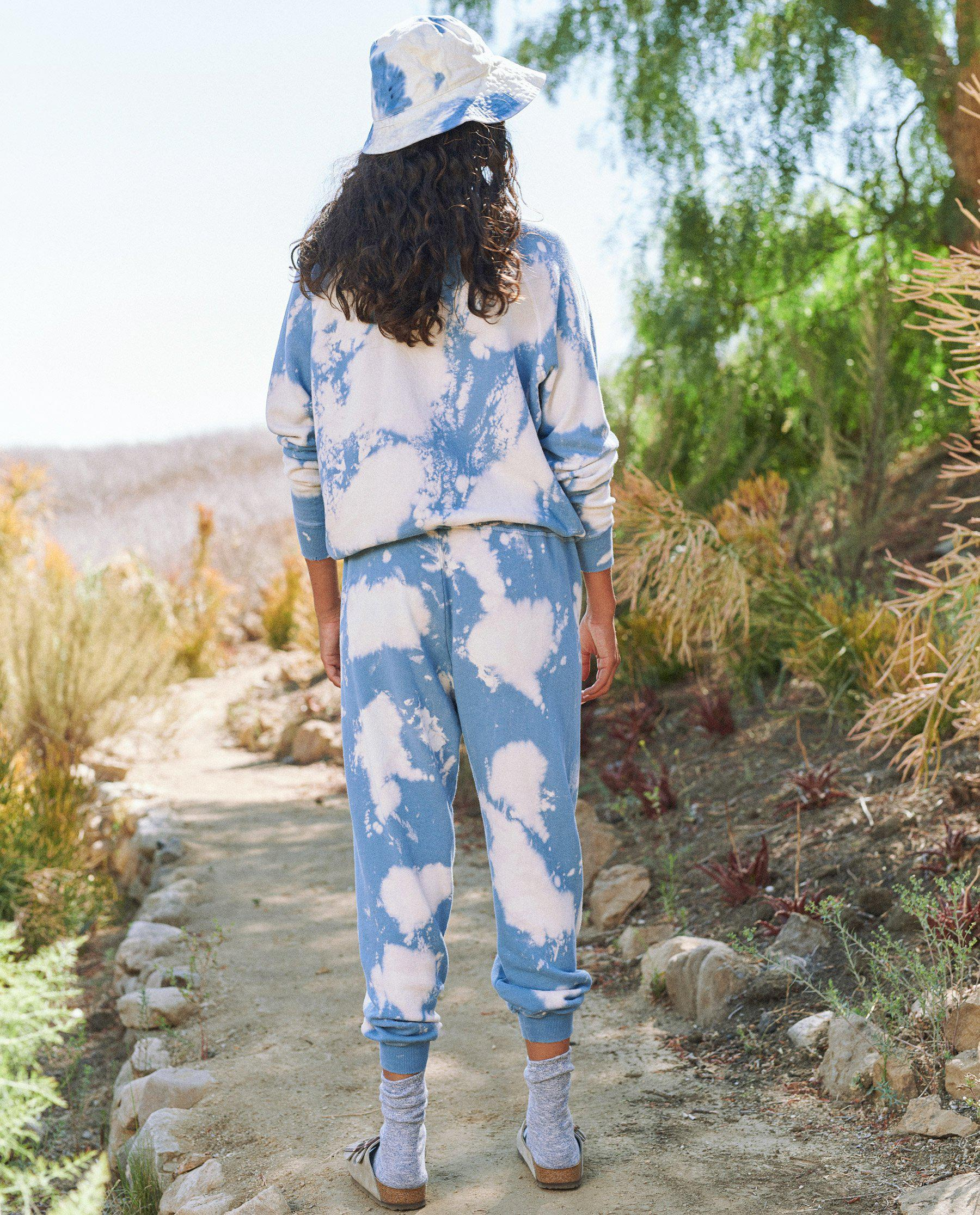 The Cropped Sweatpant. Novelty -- Cloud Wash 3