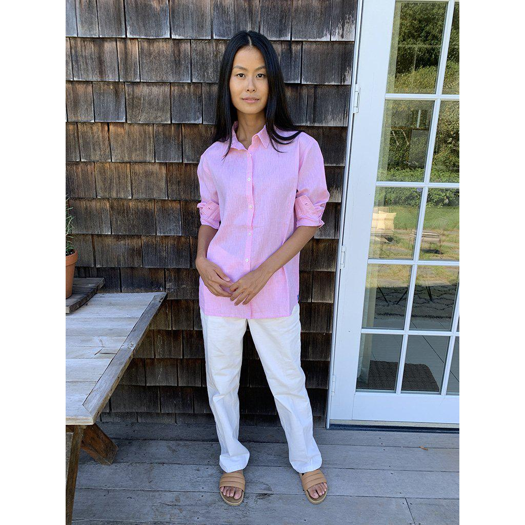 The Linen Oversized Hutton - Pink 2