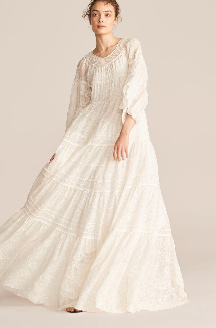 TALLULAH EMBROIDERY RUCHED TIER DRESS 1