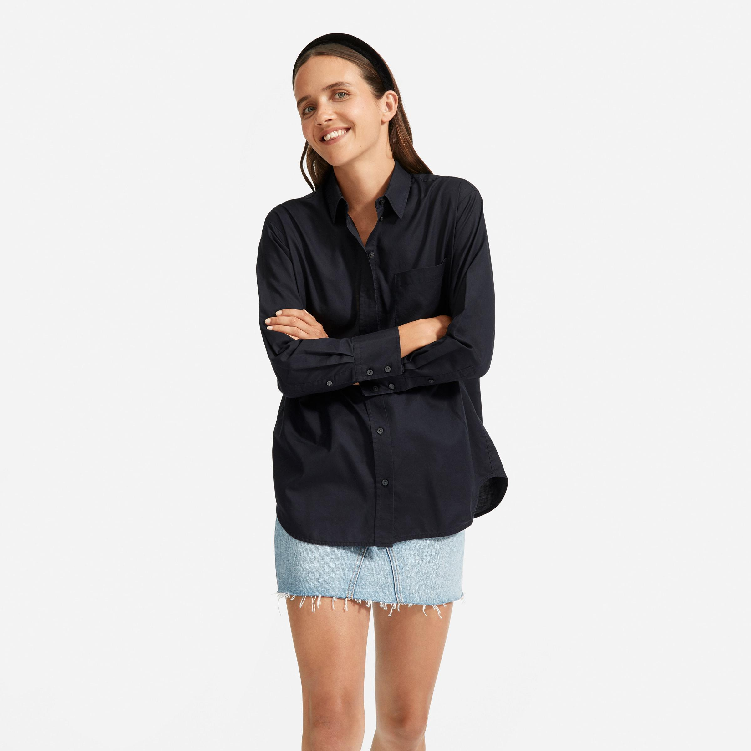 The Silky Cotton Oversized Shirt