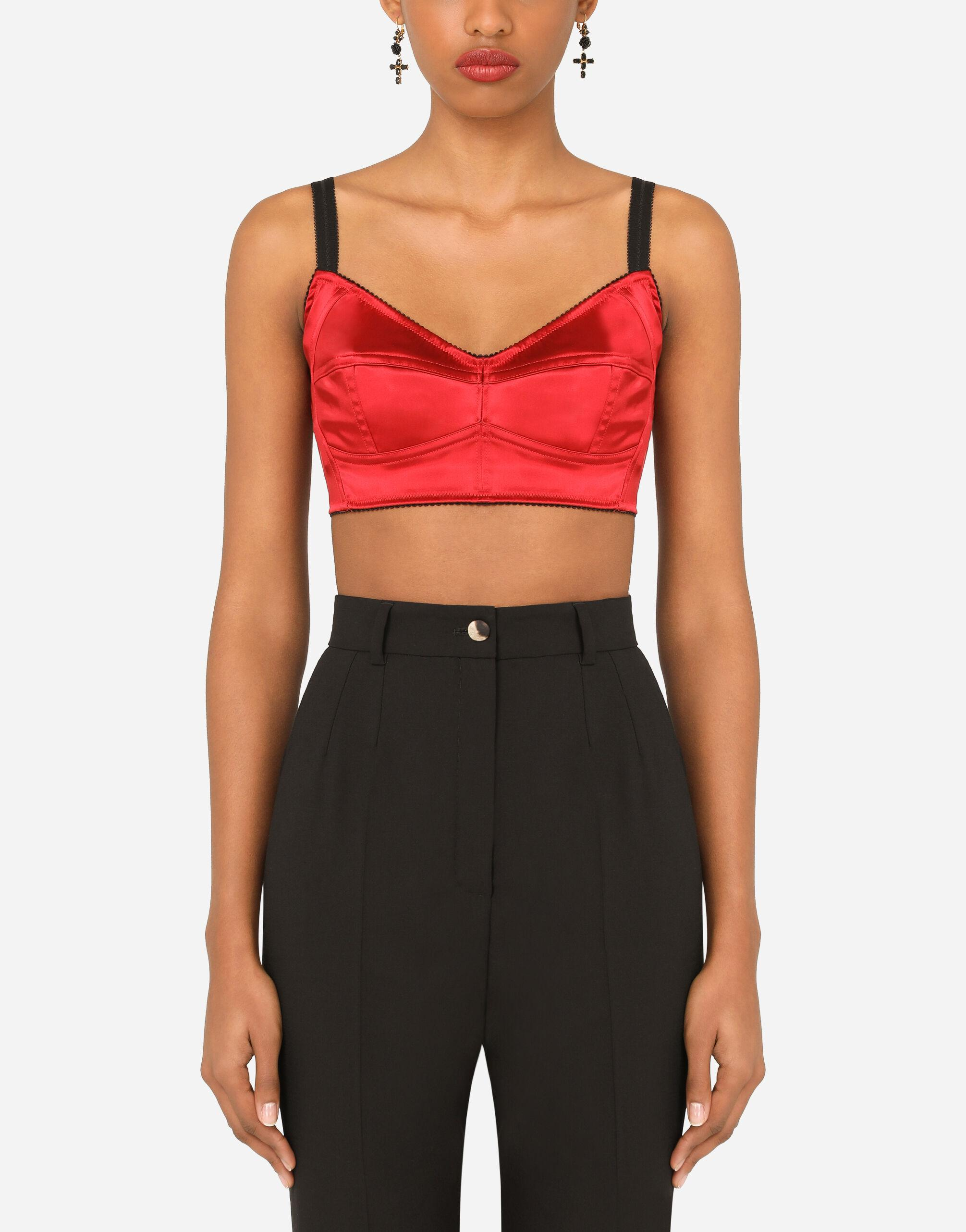 Bustier top with sweetheart neckline