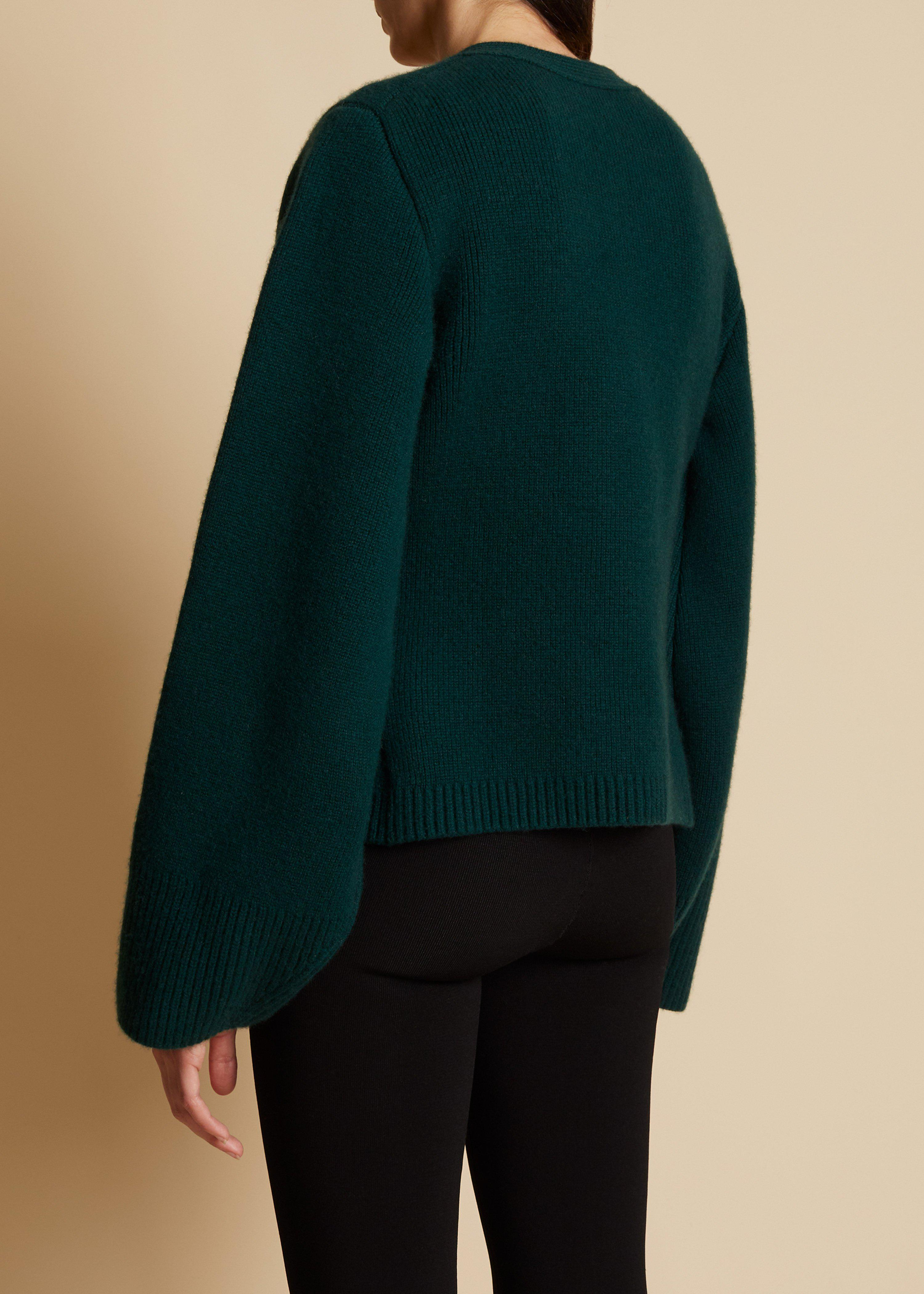 The Scarlet Cardigan in Evergreen 2