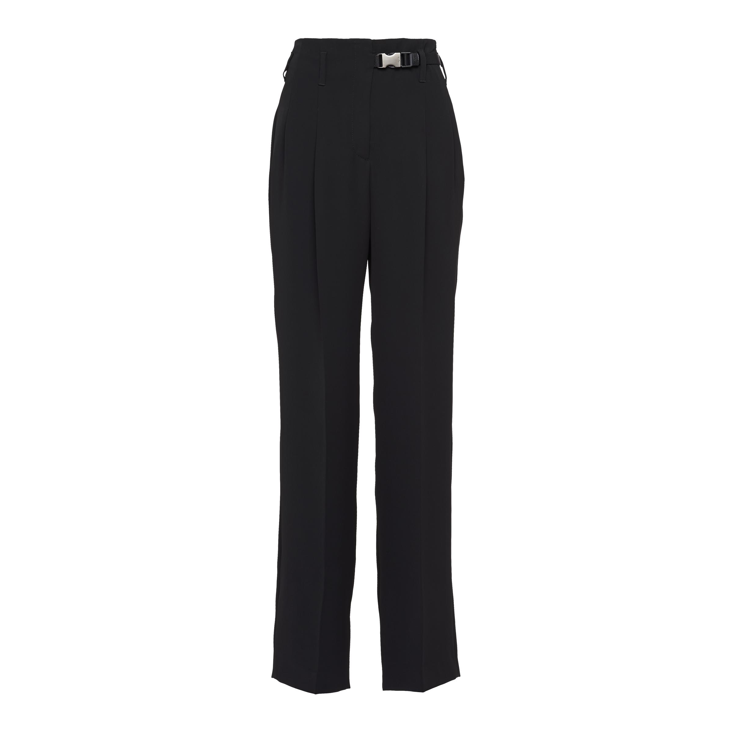 Technical Broadcloth Trousers Women Black