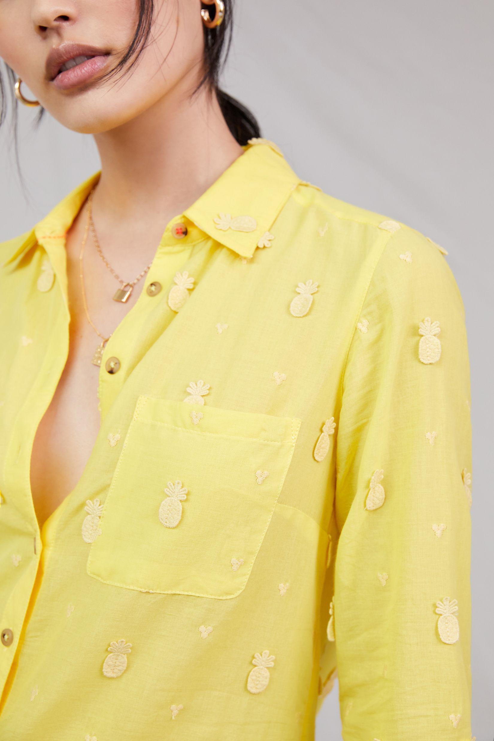 Maeve Classic Embroidered Buttondown 5