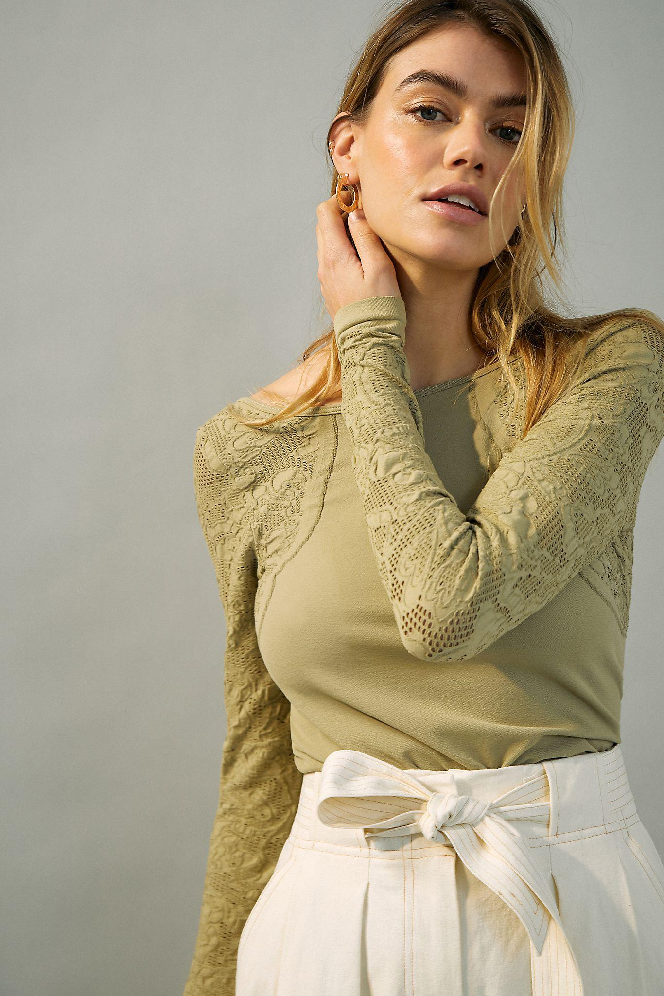 Seamless Boat Neck Top