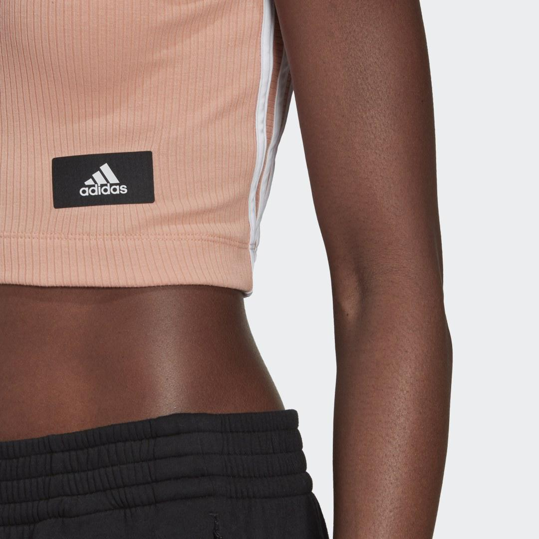 Sportswear Cropped Ribbed Tank Top Ambient Blush 5