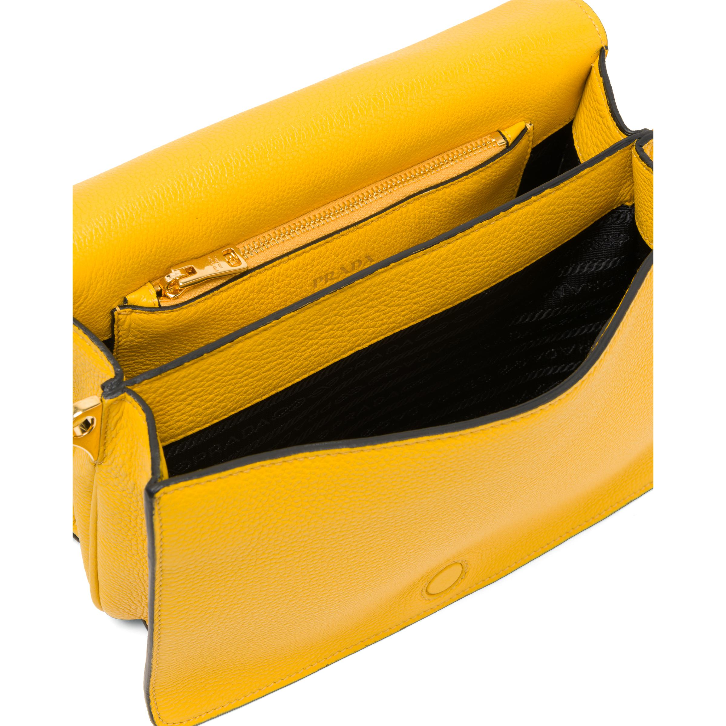 Leather Shoulder Bag Women Sunny Yellow 4