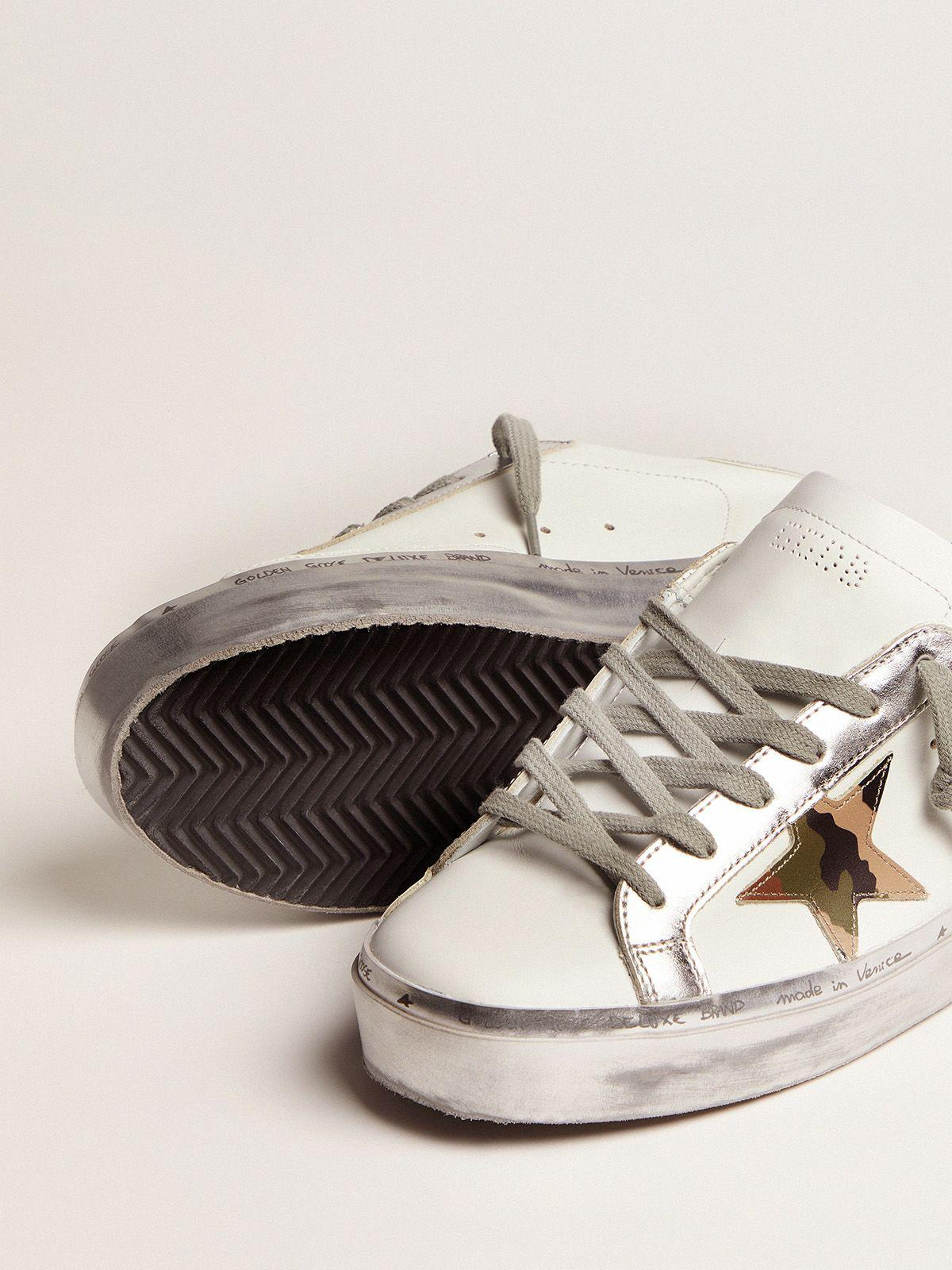 Hi Star sneakers with camouflage star and glittery heel tab 2
