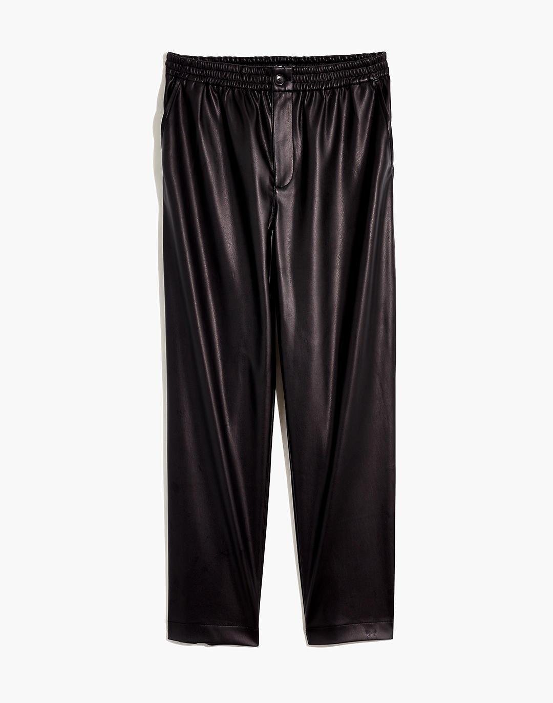 Vegan Leather Track Trousers 3
